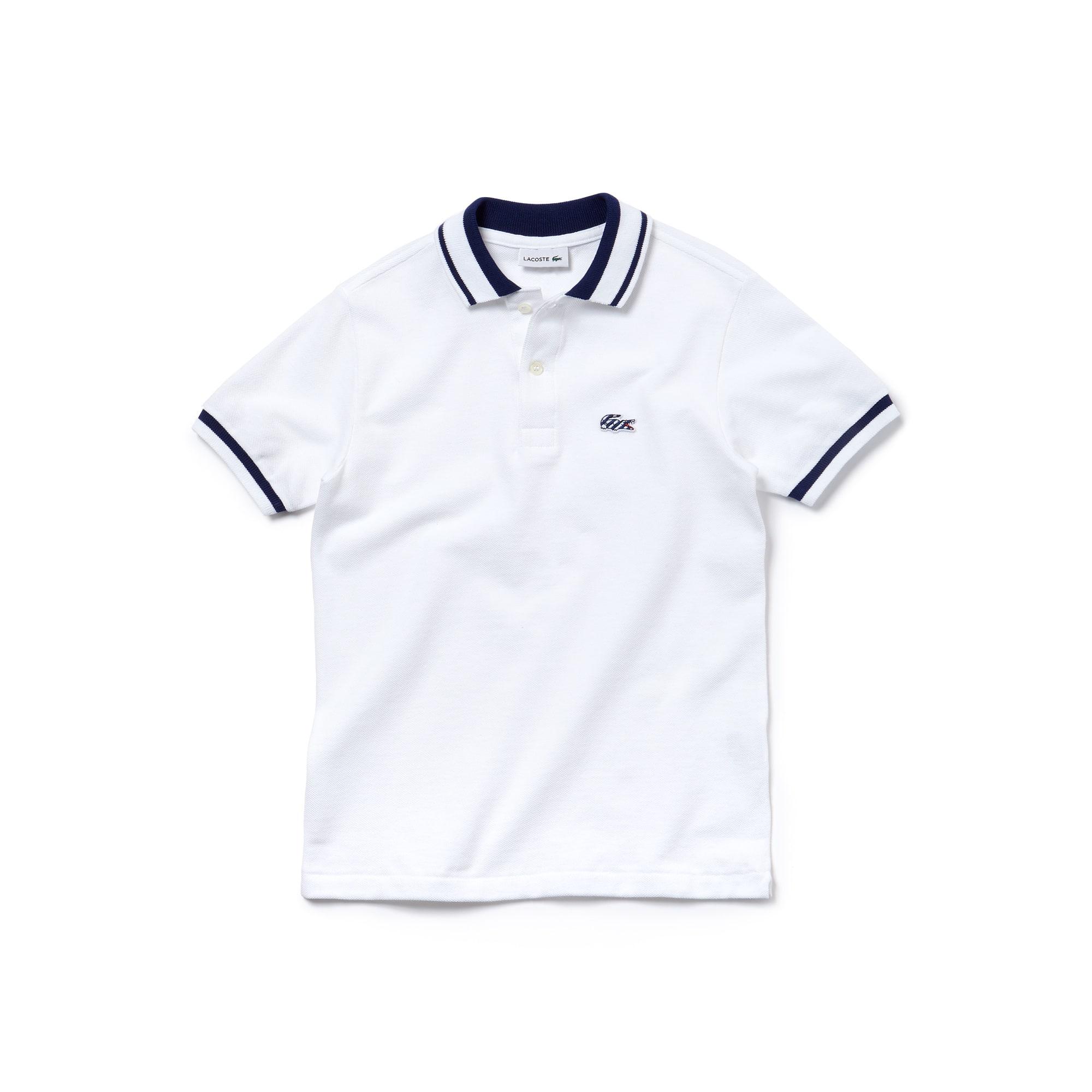 ClassicFit Lacoste-Kinder-Polo aus feinem Vollzwirn-Piqué