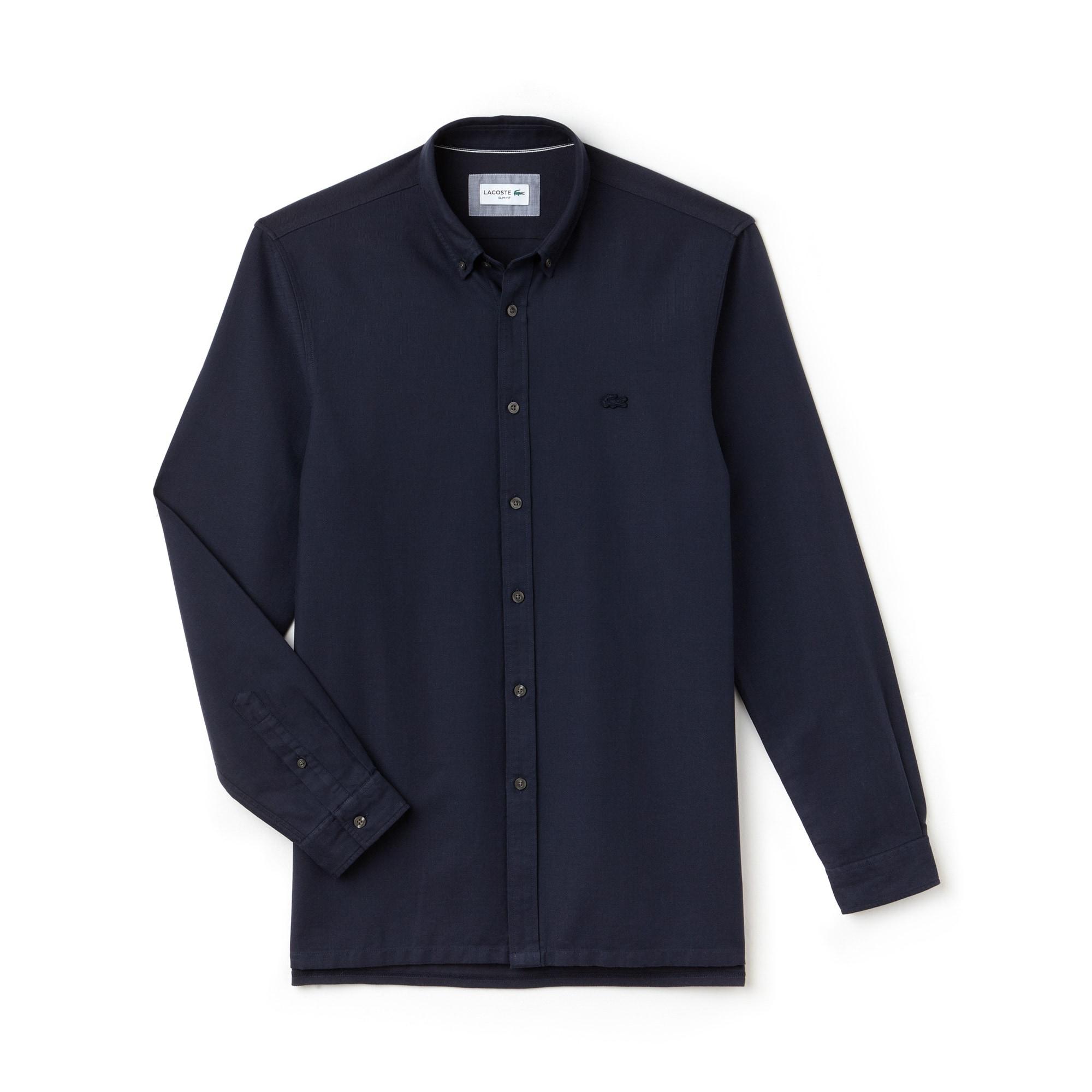 Slim Fit Herren-Hemd MOTION aus Baumwoll-Piqué