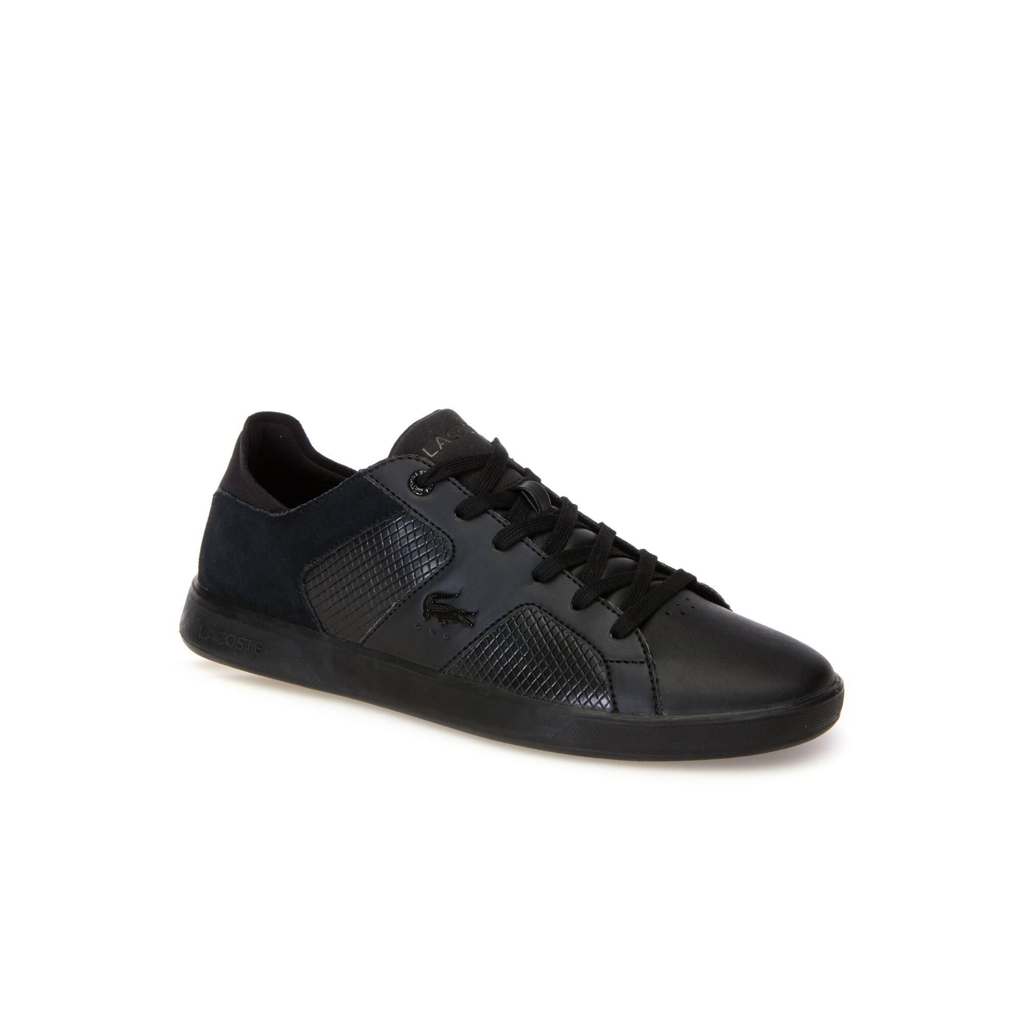 Herren-Sneakers NOVAS aus Leder, Veloursleder und Synthetik