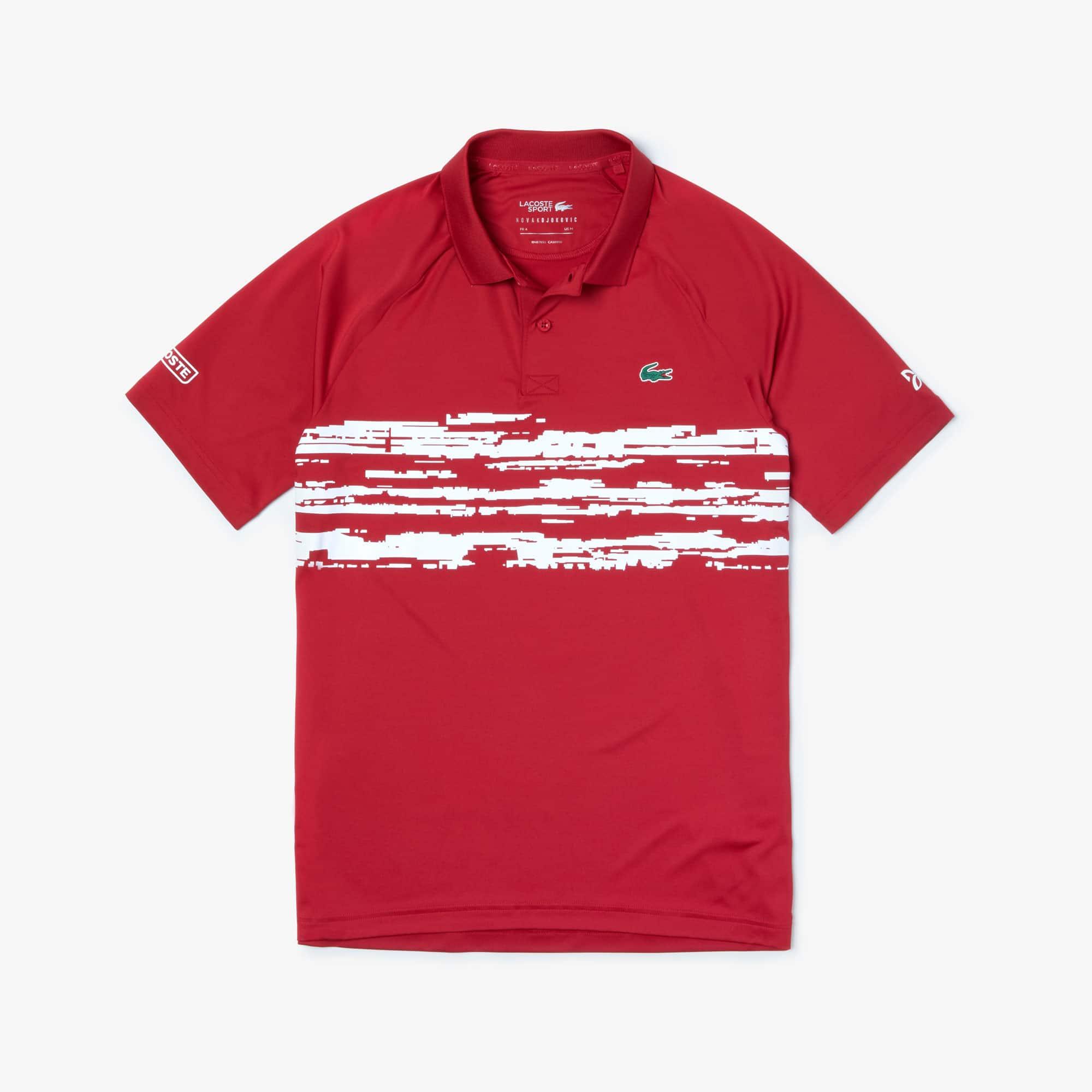 competitive price d4413 faed5 Herren LACOSTE SPORT x Novak Djokovic Jersey-Poloshirt mit Aufdruck
