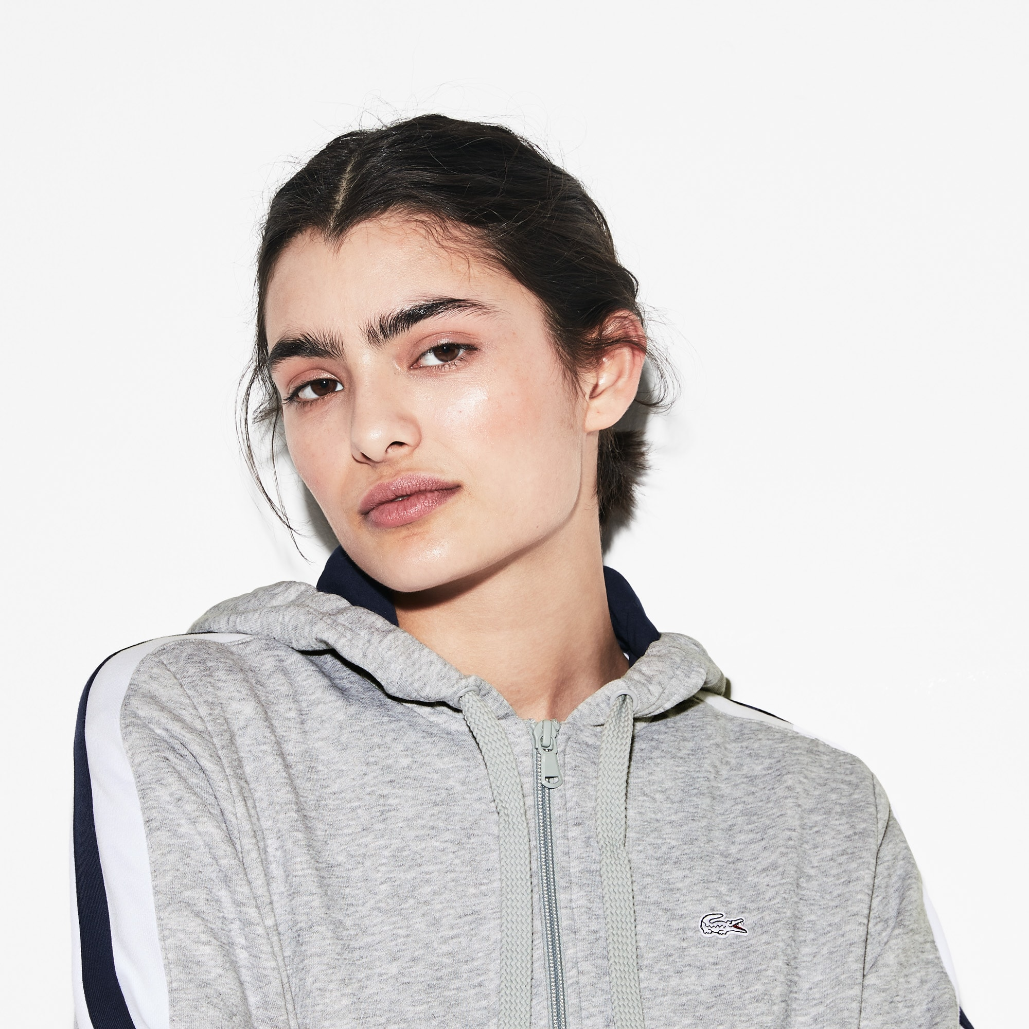 Zweifarbiges Damen-Sweatshirt LACOSTE SPORT French Open Edition