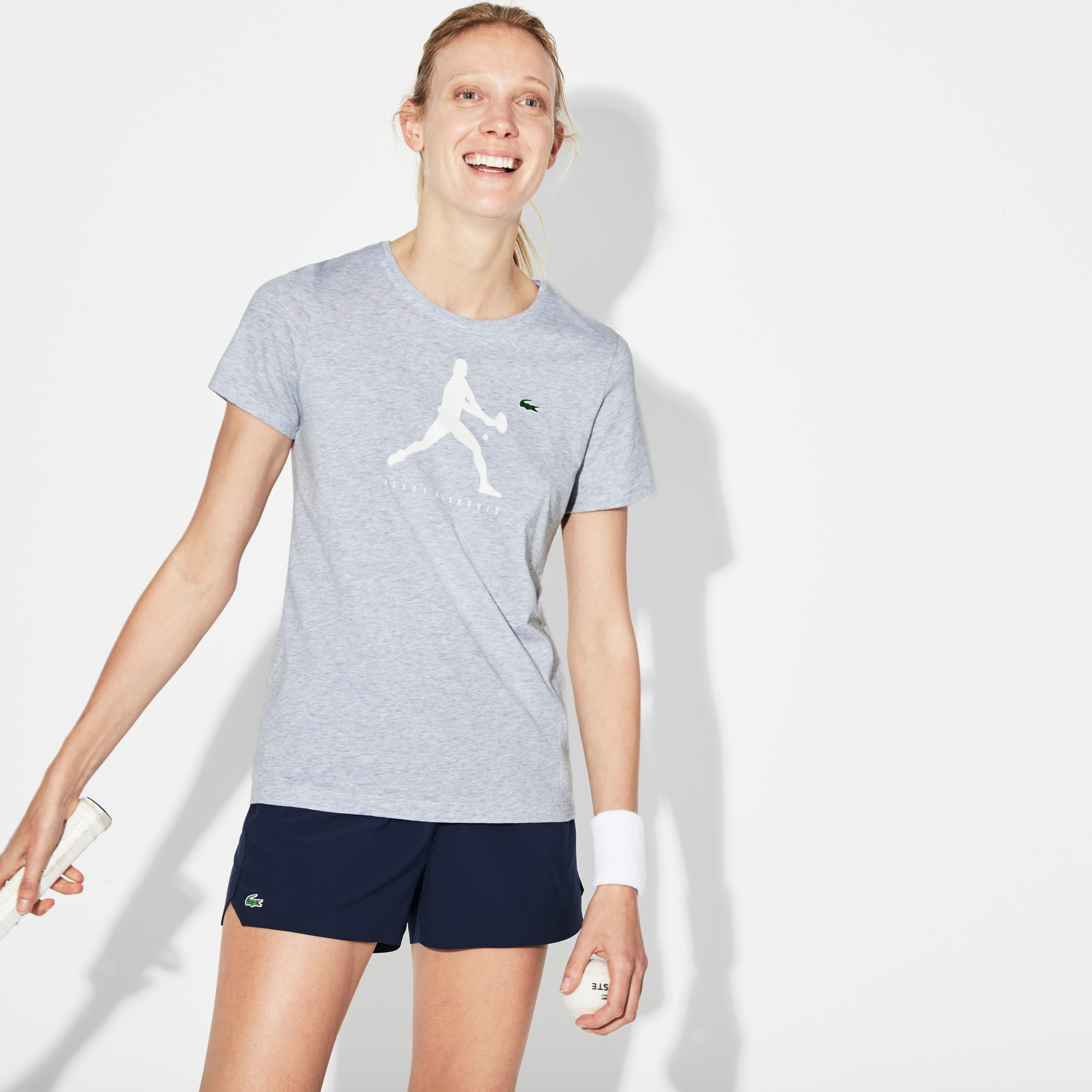 Damen-Rundhals-Shirt mit Aufdruck SPORT NOVAK DJOKOVIC Kollektion