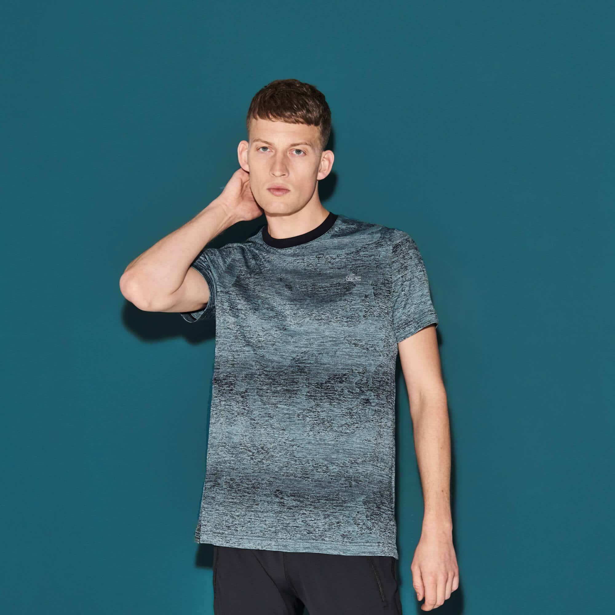 Herren LACOSTE SPORT Print Tennis T-Shirt aus Funktionsjersey