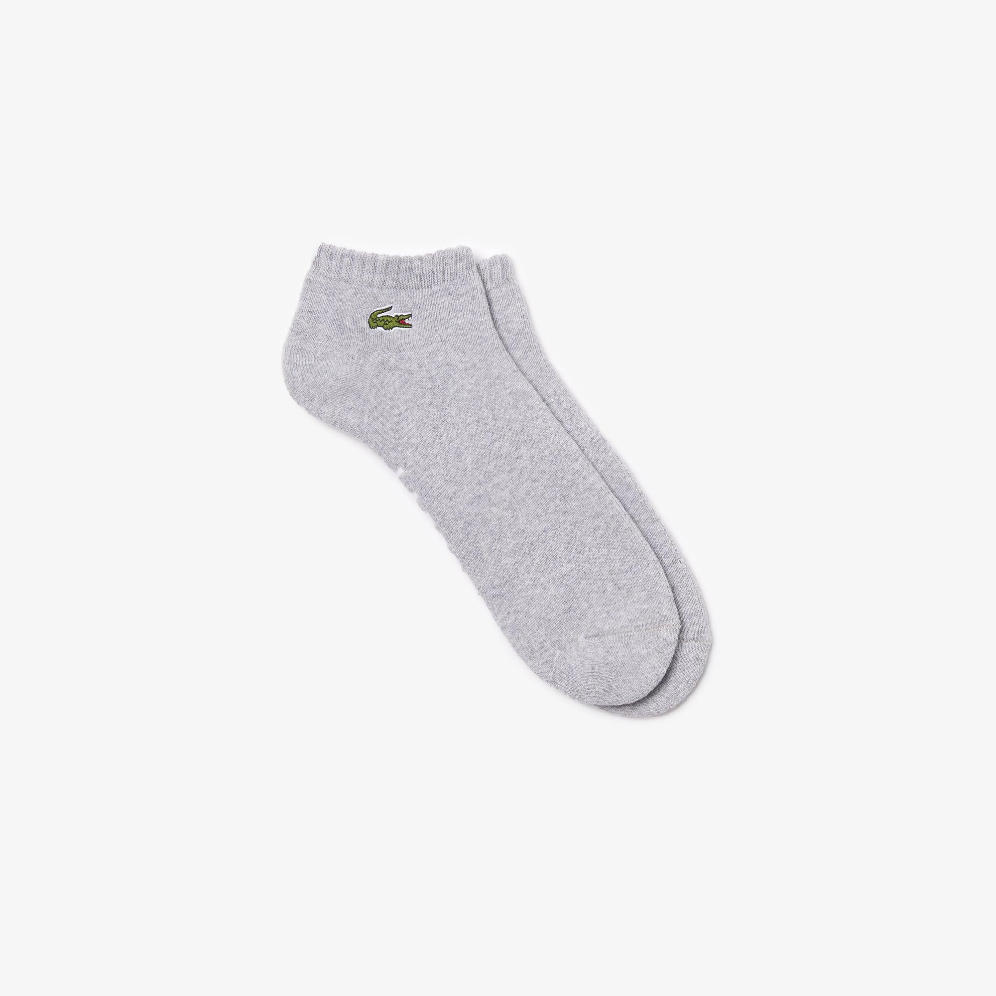 Sneaker-Socken aus einfarbigem Baumwollfrottee LACOSTE SPORT Tennis