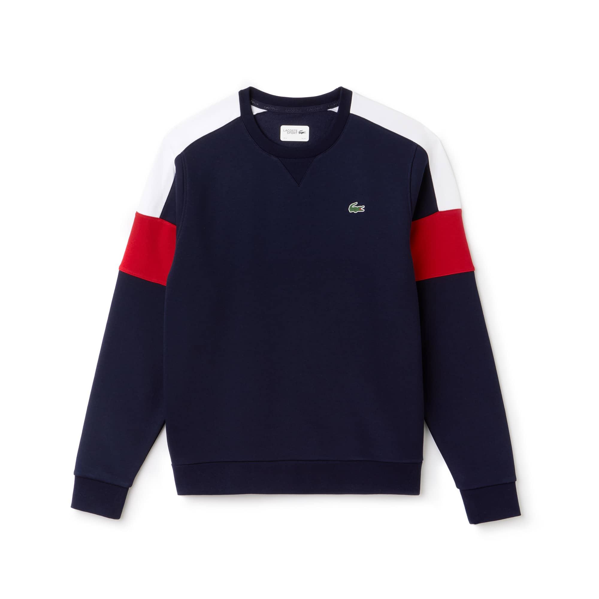 Herren LACOSTE SPORT Tennis Sweatshirt aus Fleece mit Colorblocks