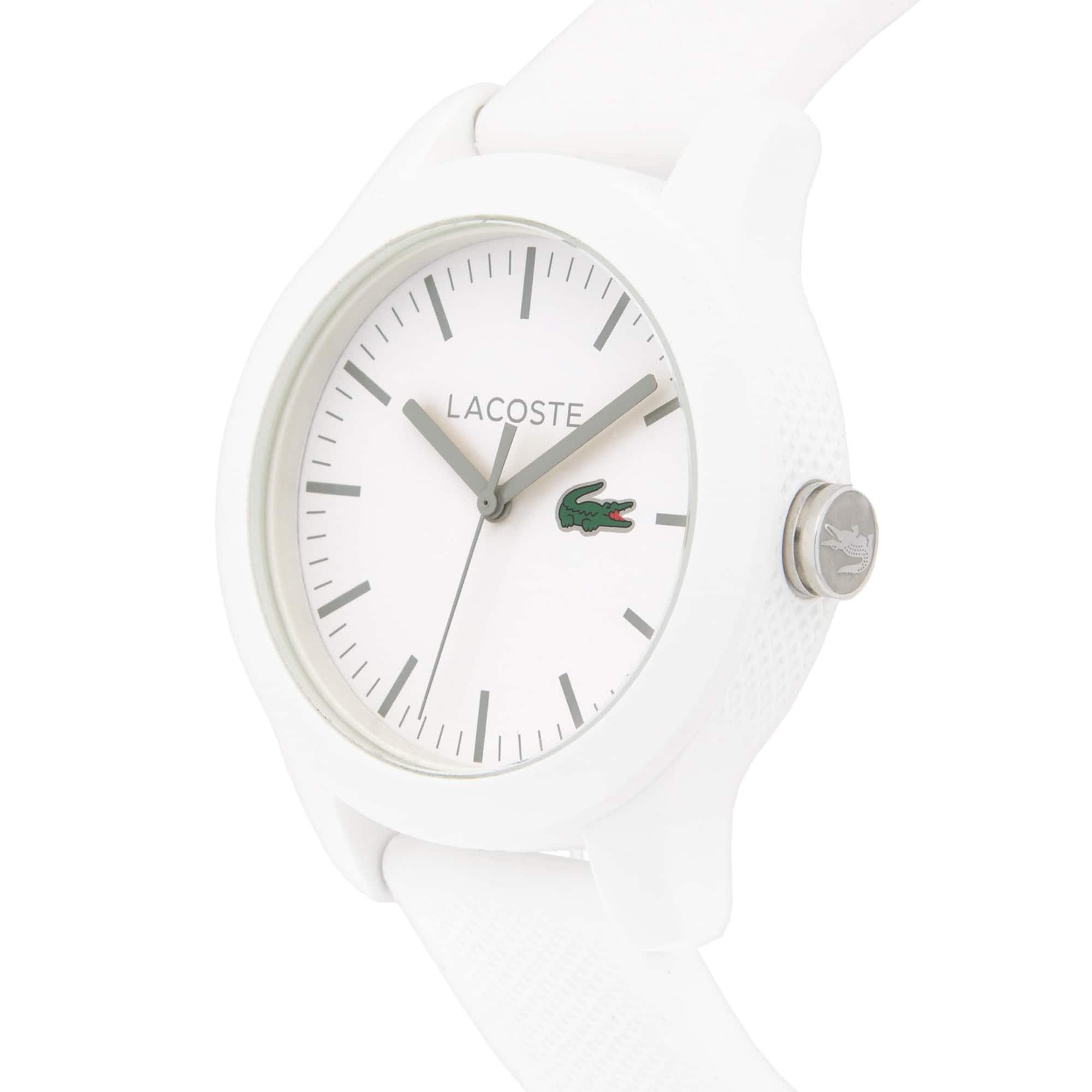 LACOSTE 12.12 Herrenuhr mit weißem Silikonband