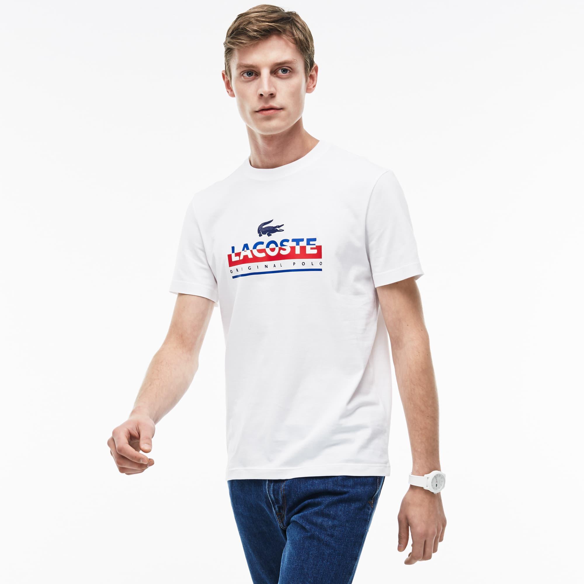Herren-Rundhals-Shirt aus Jersey mit Schriftzug