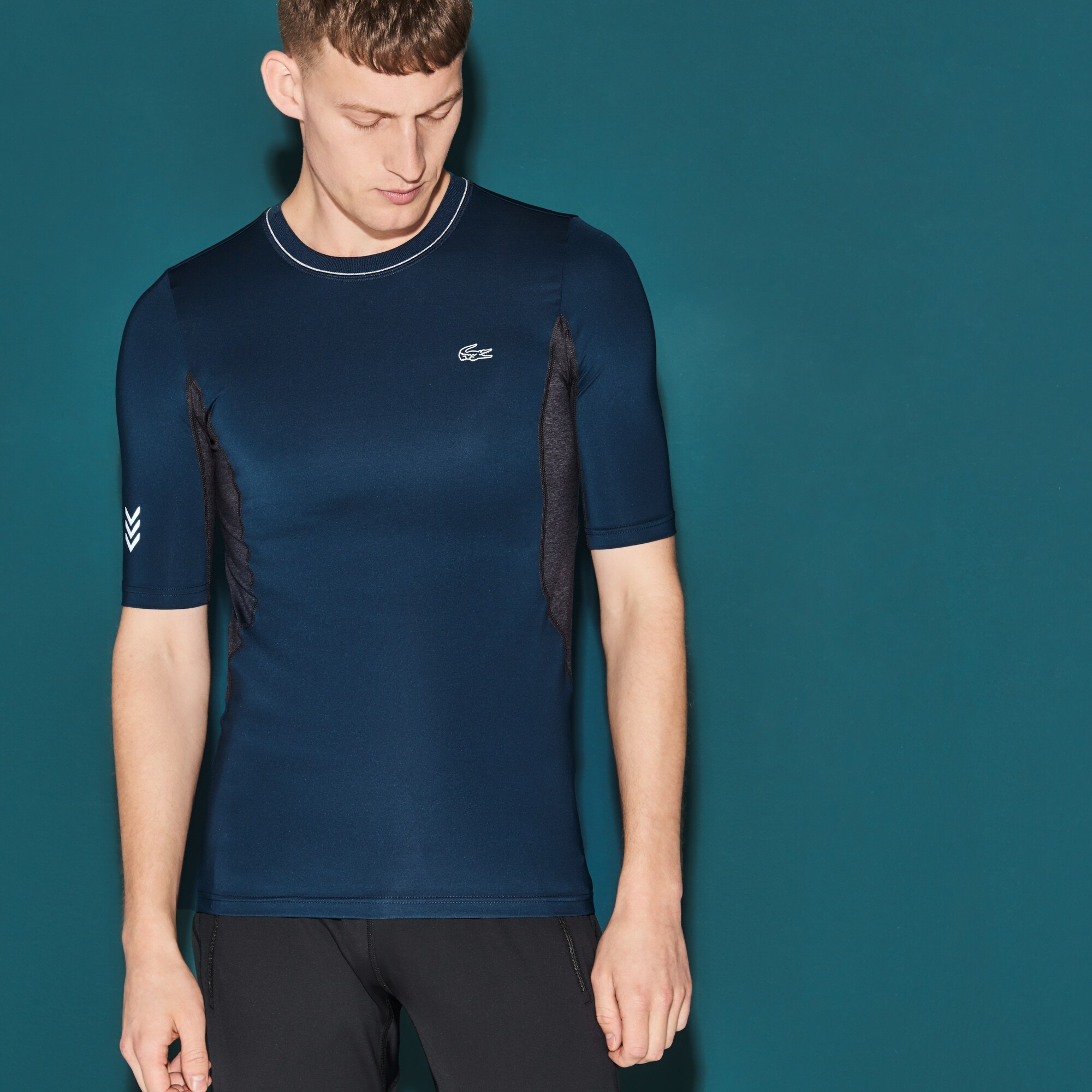 Herren LACOSTE SPORT Kompressions-Tennis T-Shirt