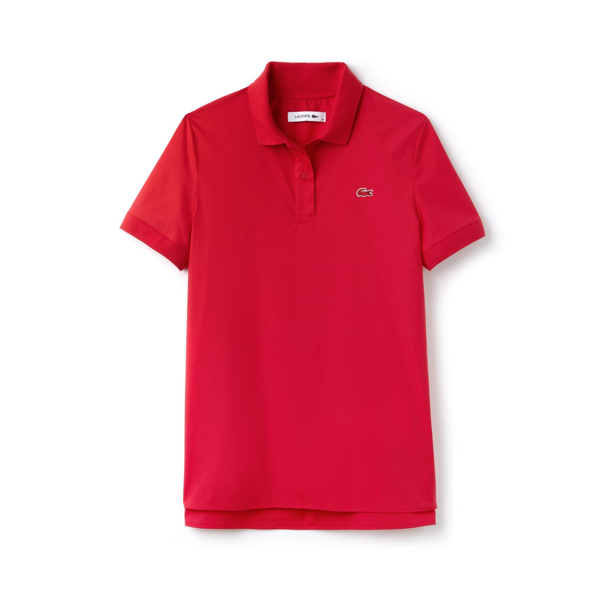 Regular Fit Damen-Poloshirt aus Stretch-Popeline PARIS Kollektion