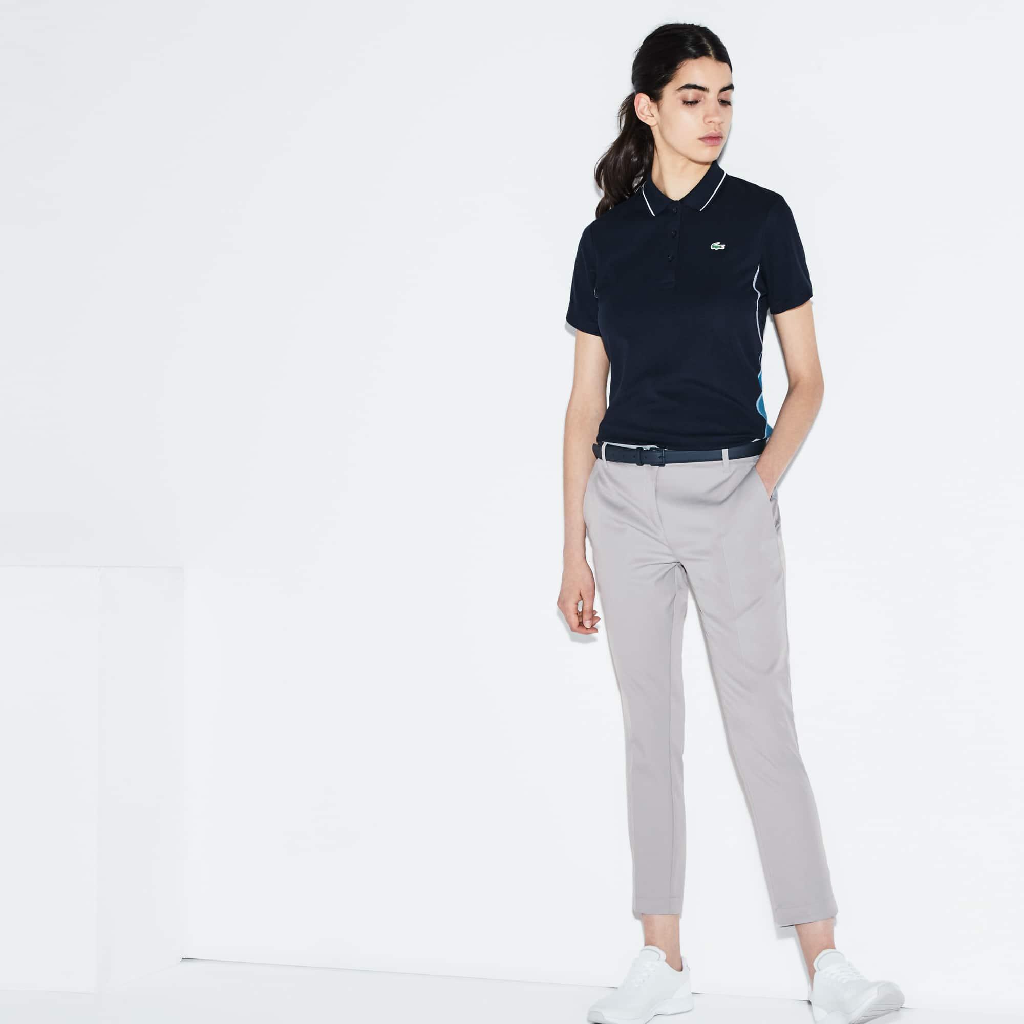 Bundfaltenhose aus der LACOSTE Sport Golf Kollektion für Damen aus technischem Gabardine