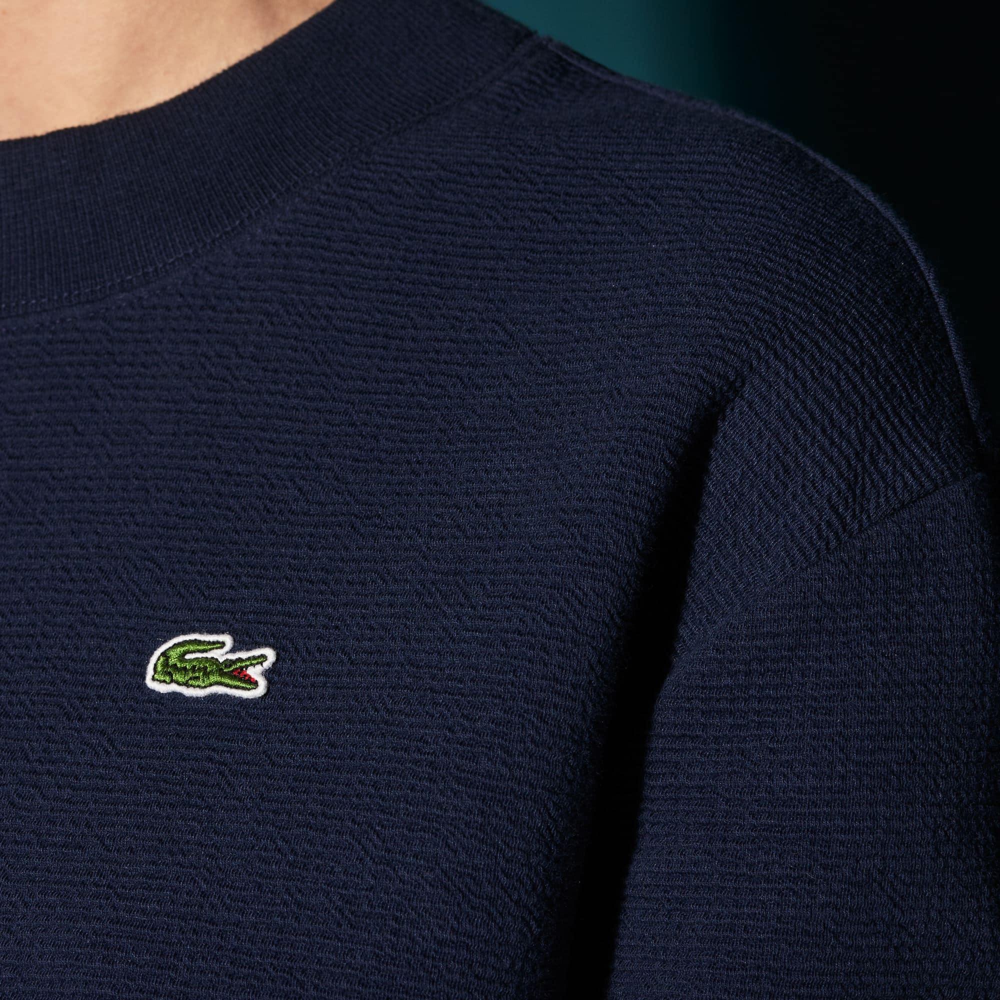 Damen LACOSTE SPORT Fleece Tennis-Sweatshirt mit Wabenstruktur