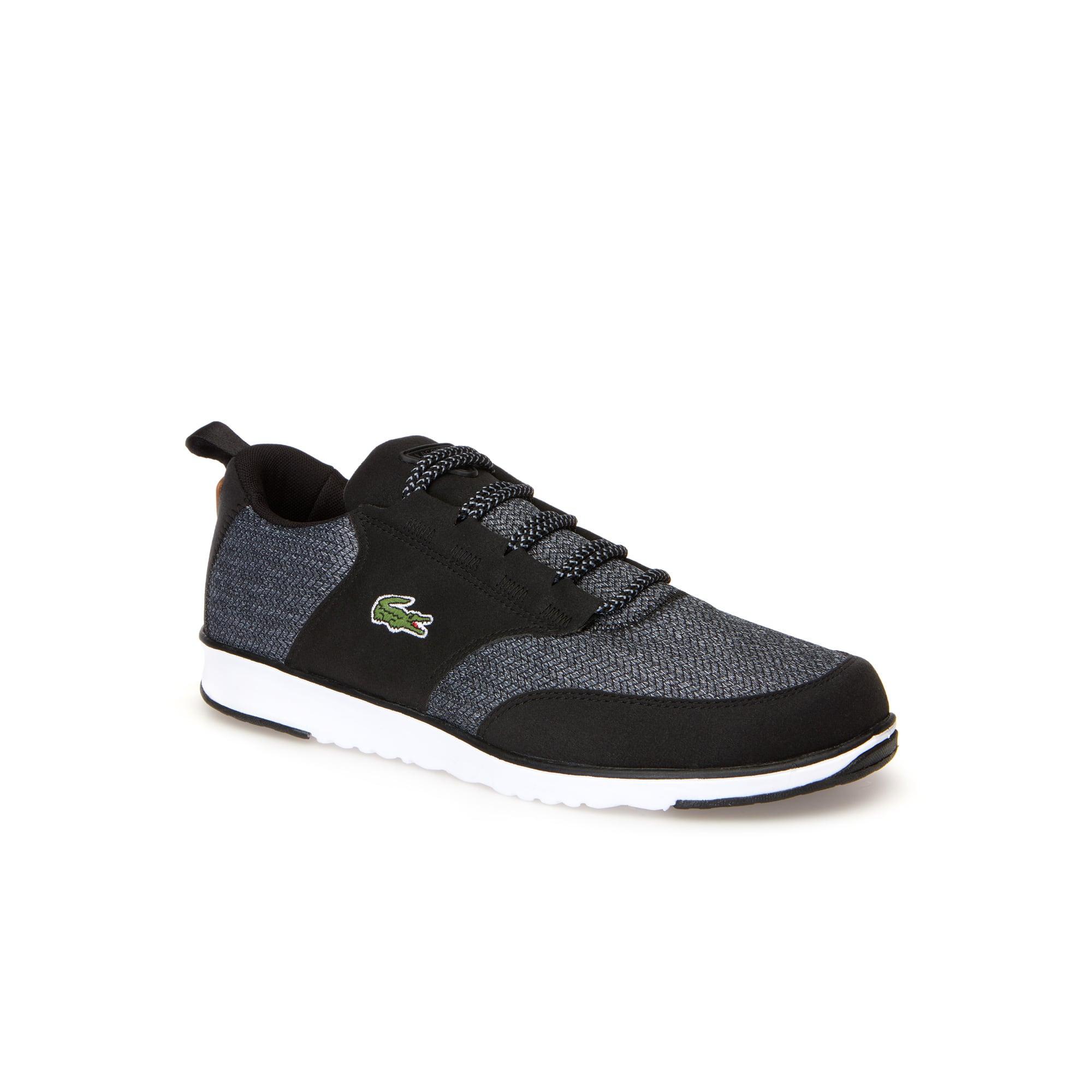 Herren-Sneakers L.IGHT aus meliertem Piqué