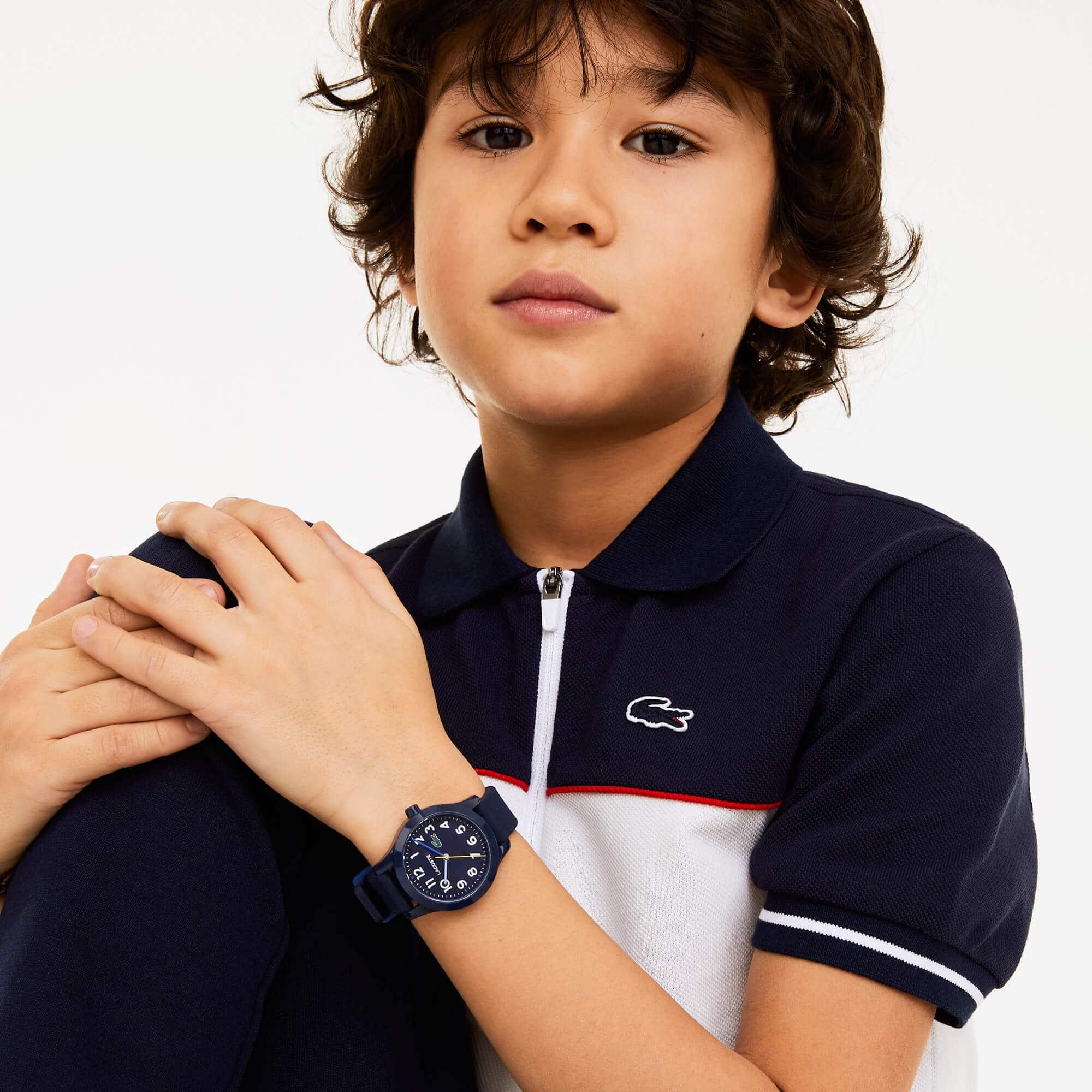 LACOSTE 12.12 Kinderuhr mit blauem Silikonband