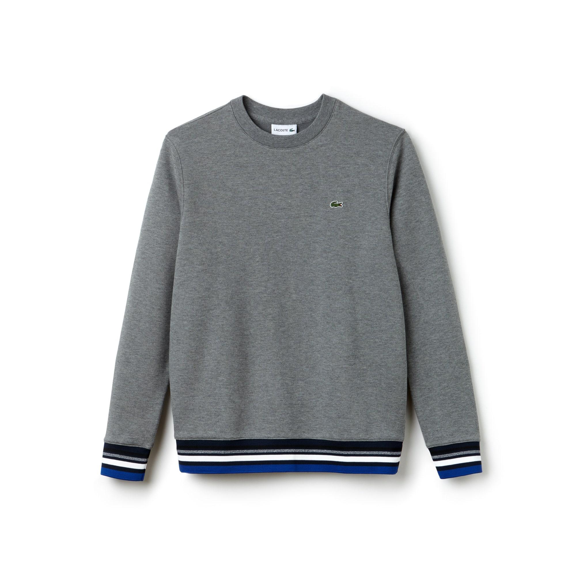 Herren-Sweatshirt aus Fleece mit Streifenmuster