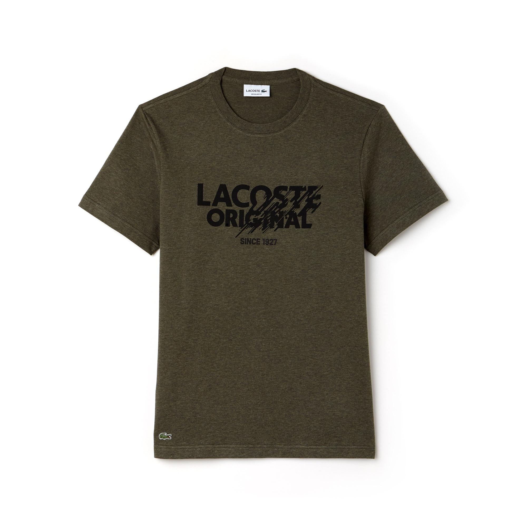 Herren-Rundhals-Shirt aus Jersey mit LACOSTE Original-Logo