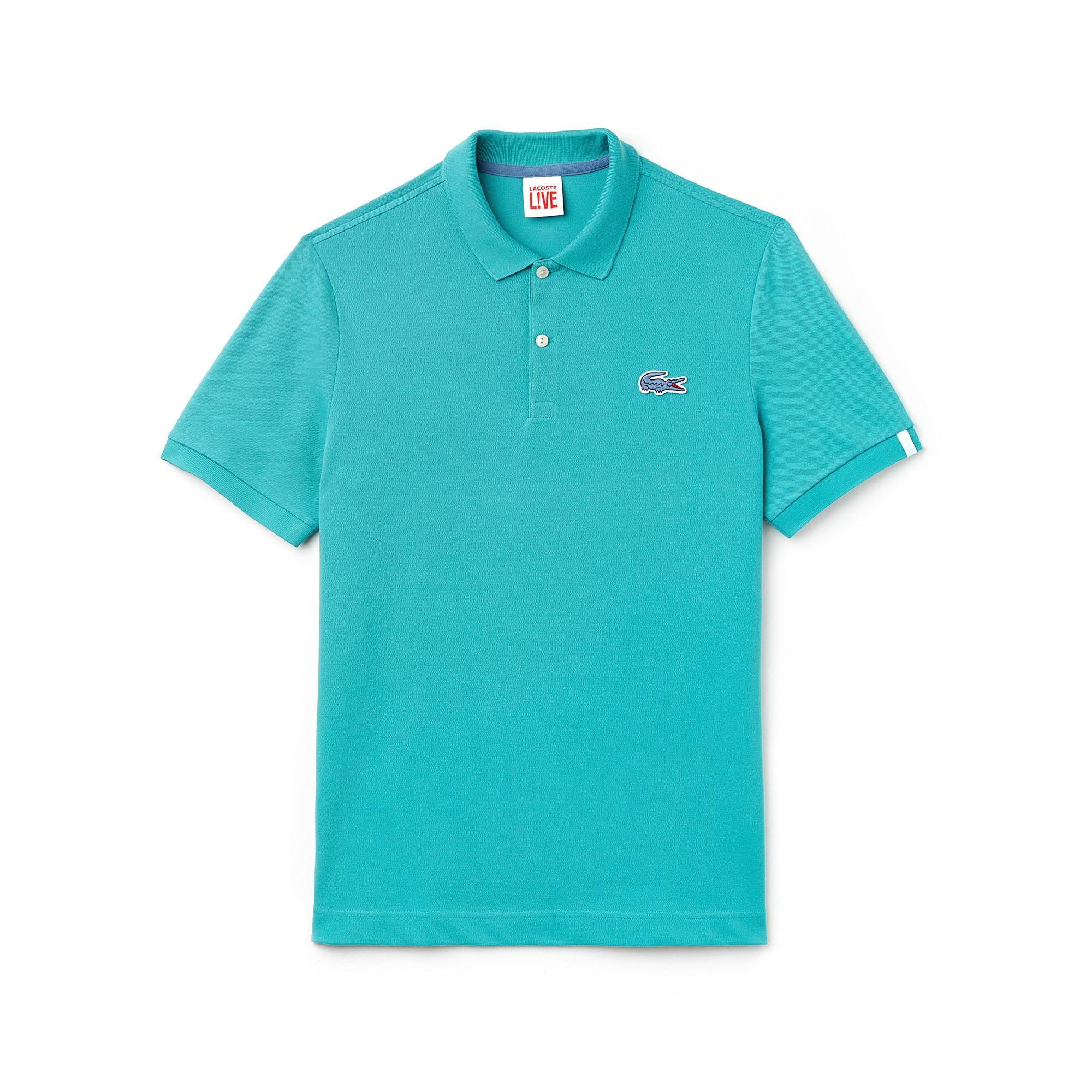 Slim Fit Herren-Poloshirt aus Mini-Piqué mit Stretch LACOSTE L!VE
