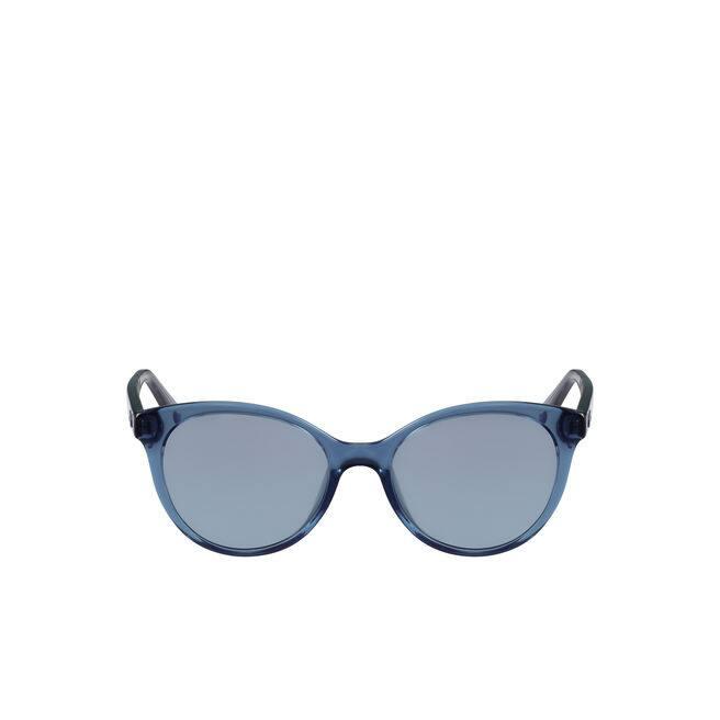 Damen-Blaue Sonnenbrille mit Ton-in-Ton-Logo
