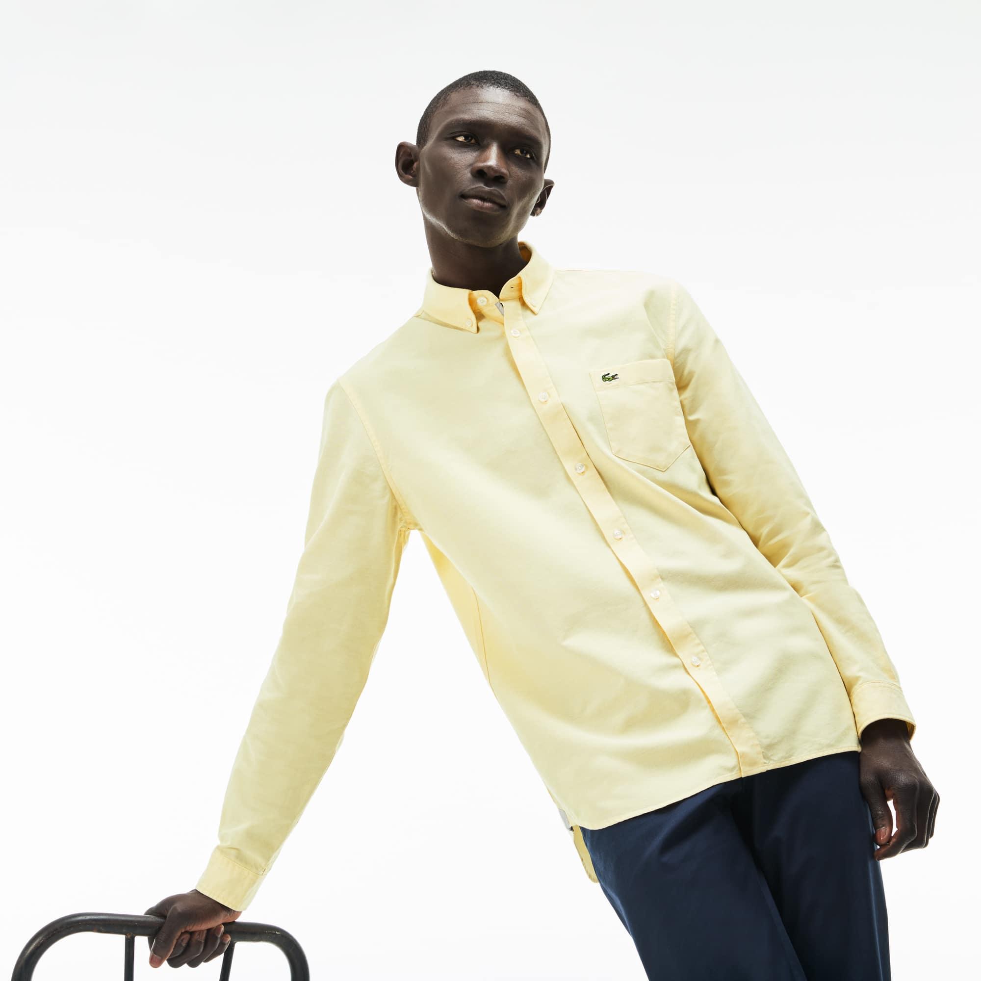 Regular Fit Herren-Hemd aus Oxford-Baumwolle