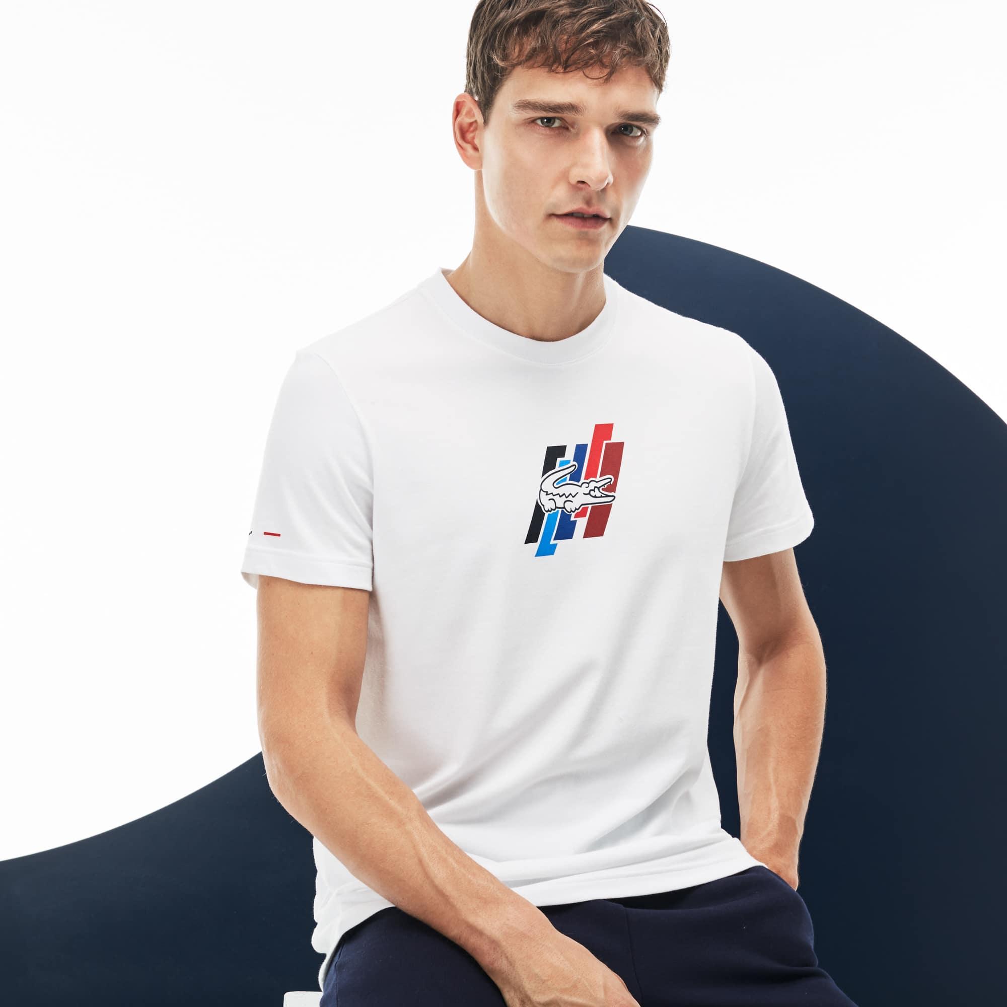 Herren-Rundhals-Shirt aus Jersey LACOSTE SPORT FRENCH SPORTING SPIRIT