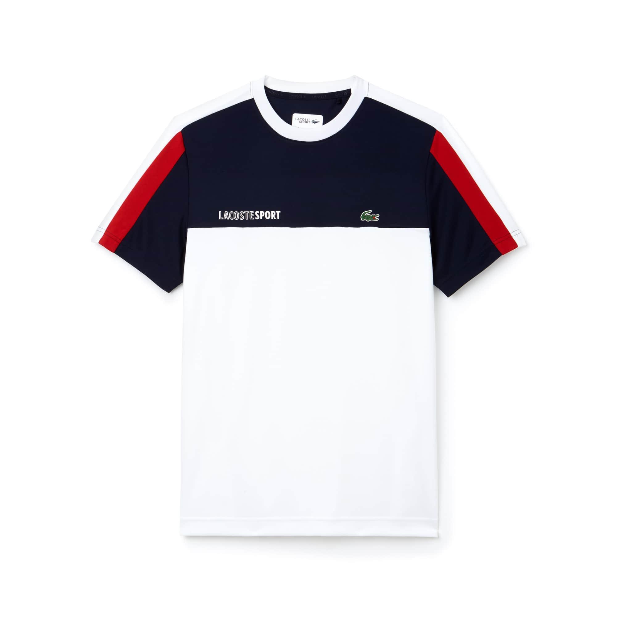 Herren LACOSTE SPORT Rundhals Tennis T-Shirt mit Colorblocks