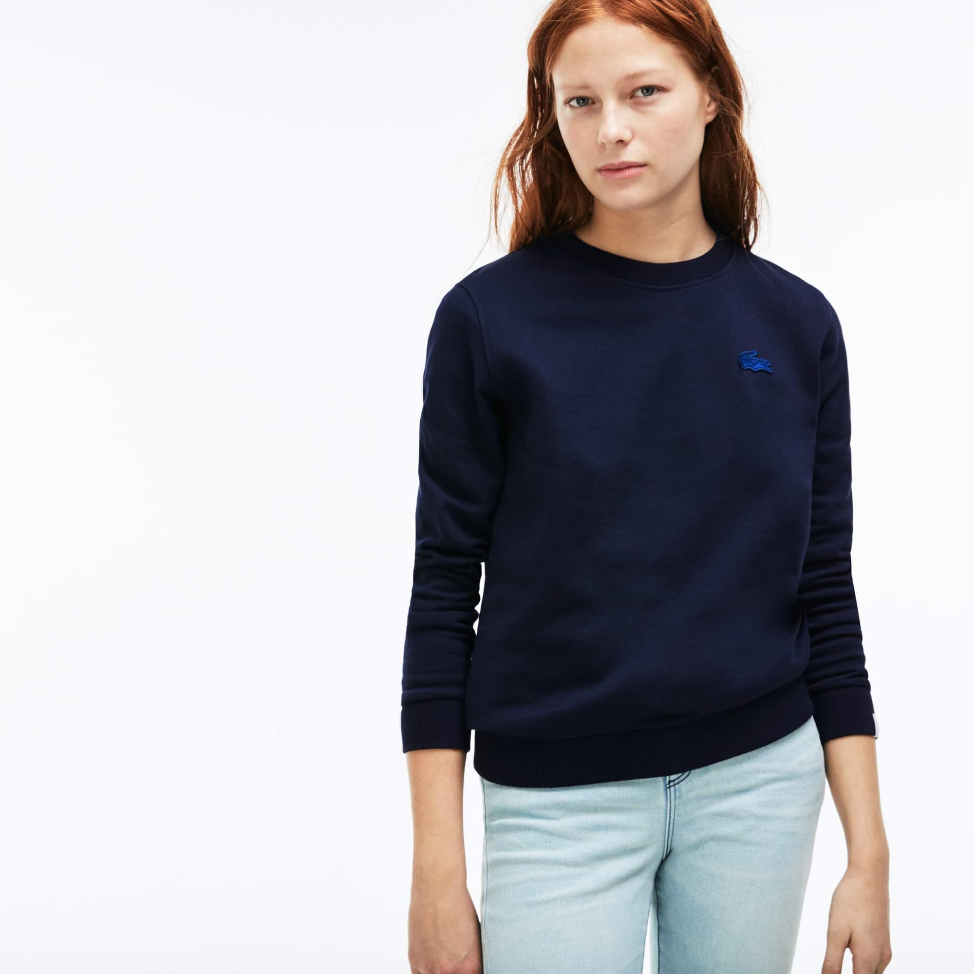 Damen-Sweatshirt mit Schlüssellochausschnitt LACOSTE L!VE