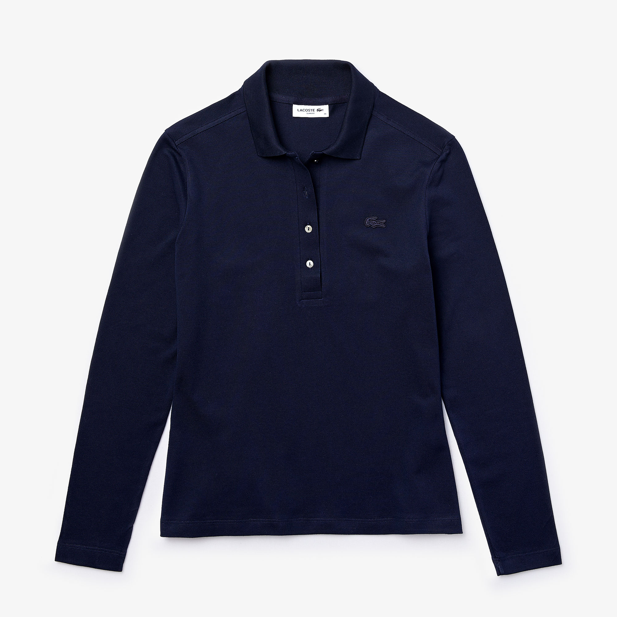 Damen LACOSTE Poloshirt in Stretch-Piqué