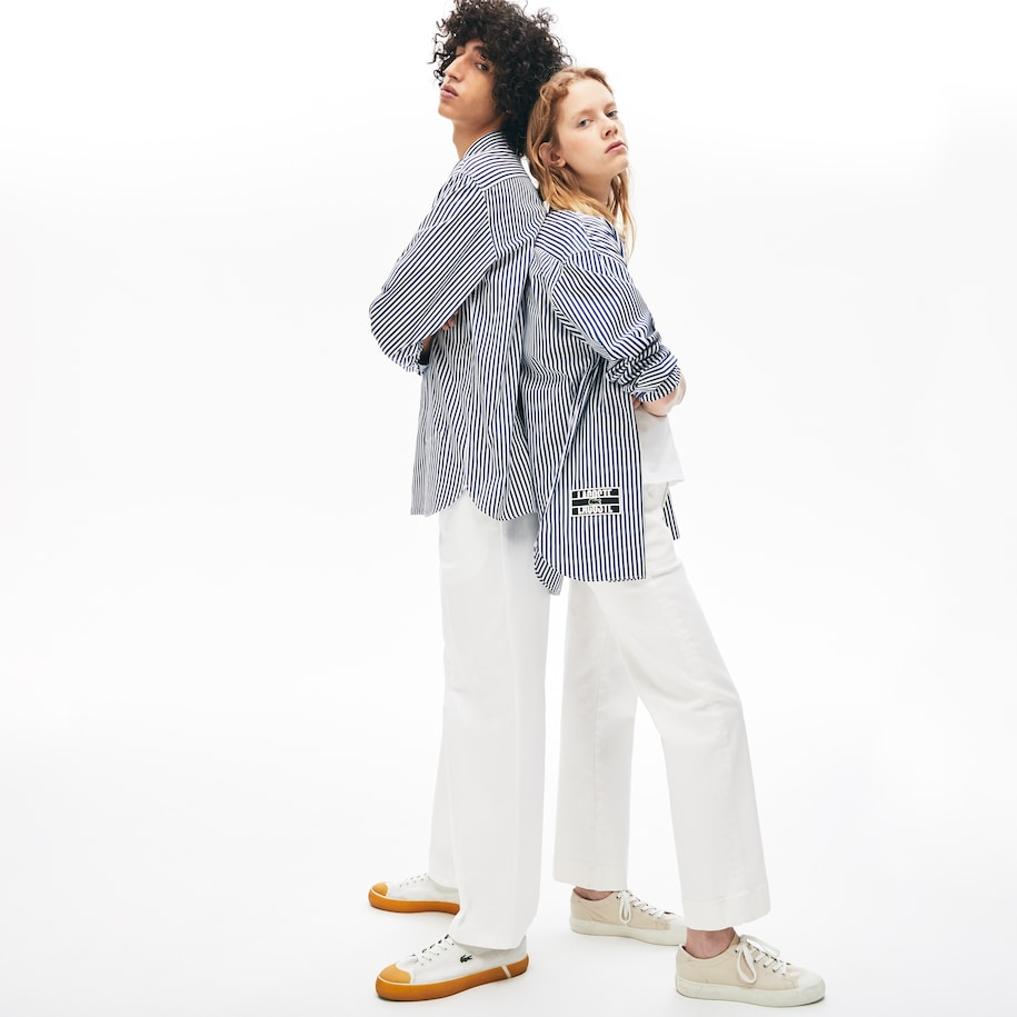 Unisex-Baumwollhemd in Boxy Fit LACOSTE L!VE
