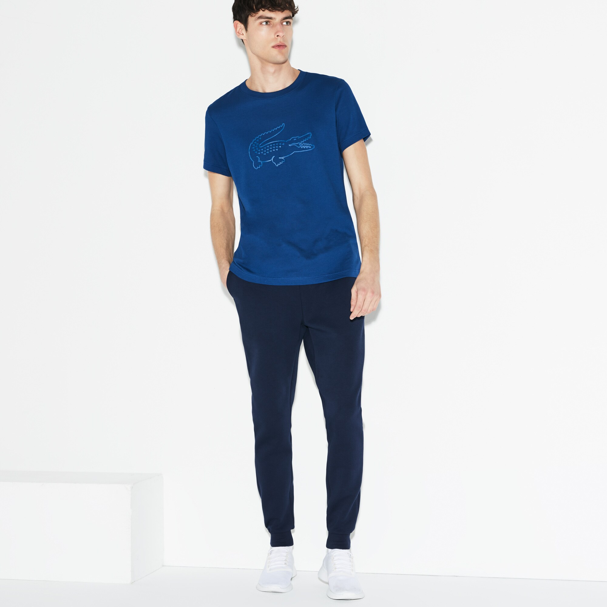 Herren LACOSTE SPORT Tennis T-Shirt mit großem Krokodil