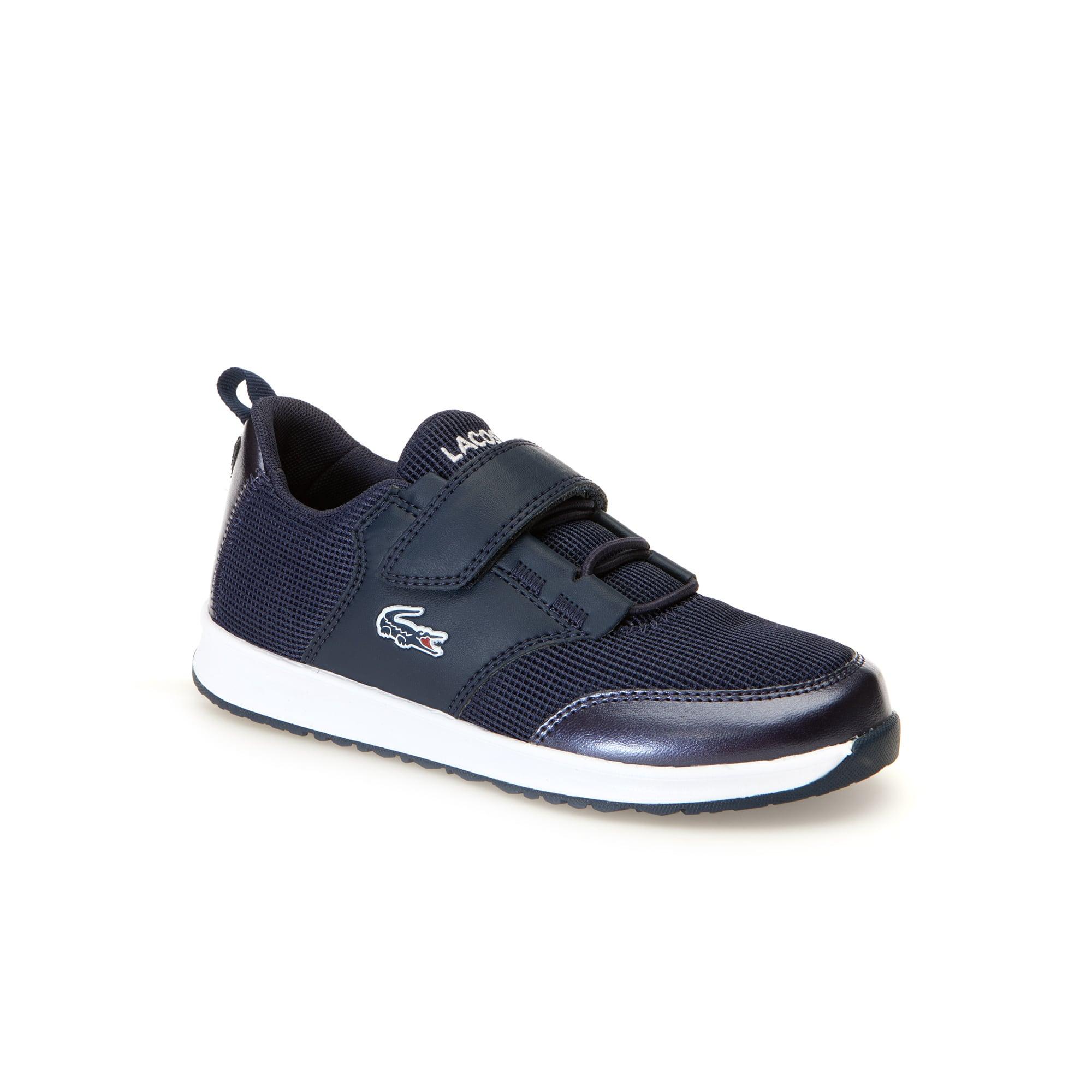 Kinder-Sneakers L-IGHT metallisch aus Textil und Synthetik