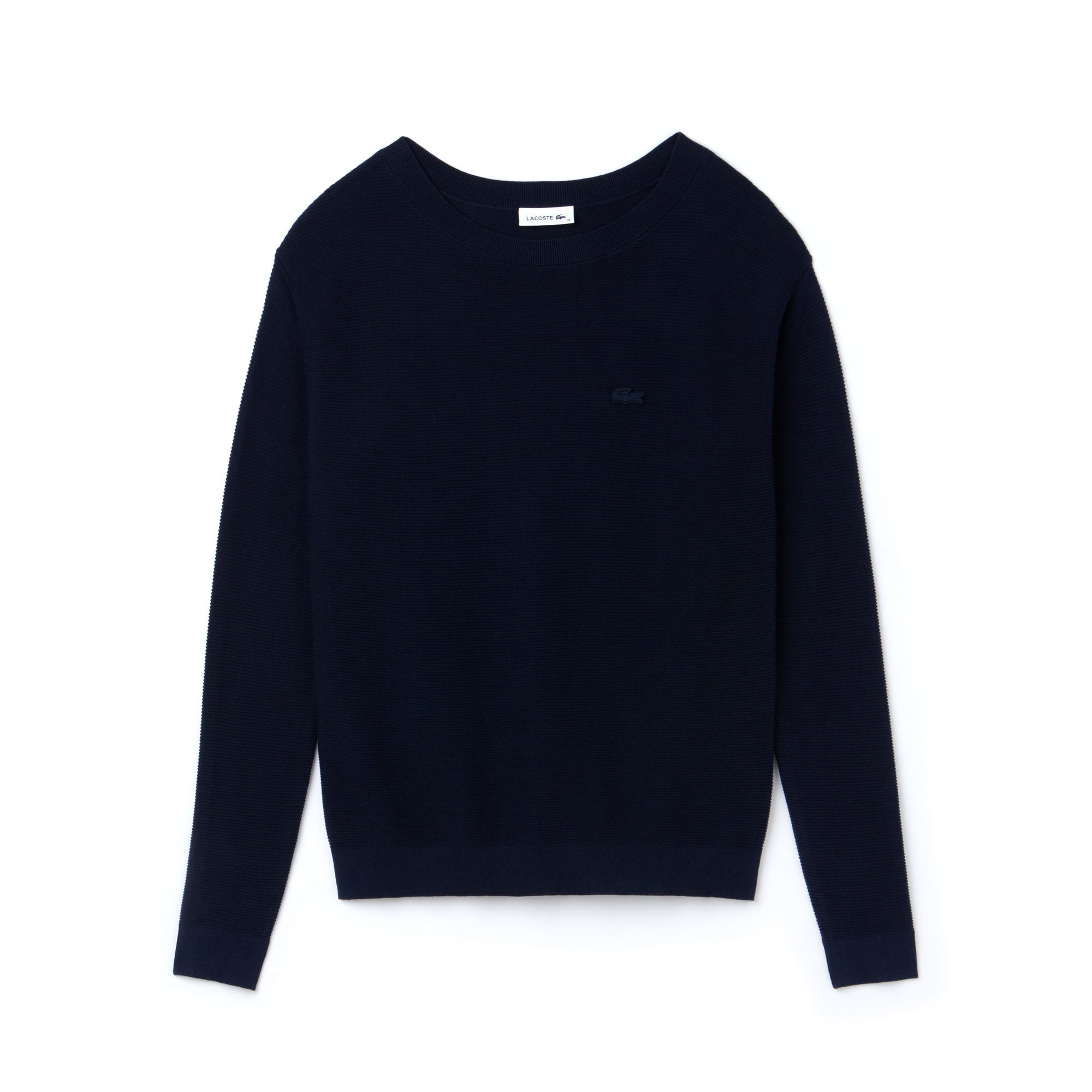 Damen-Pullover mit U-Boot-Ausschnitt und Perlmuster aus Baumwolle