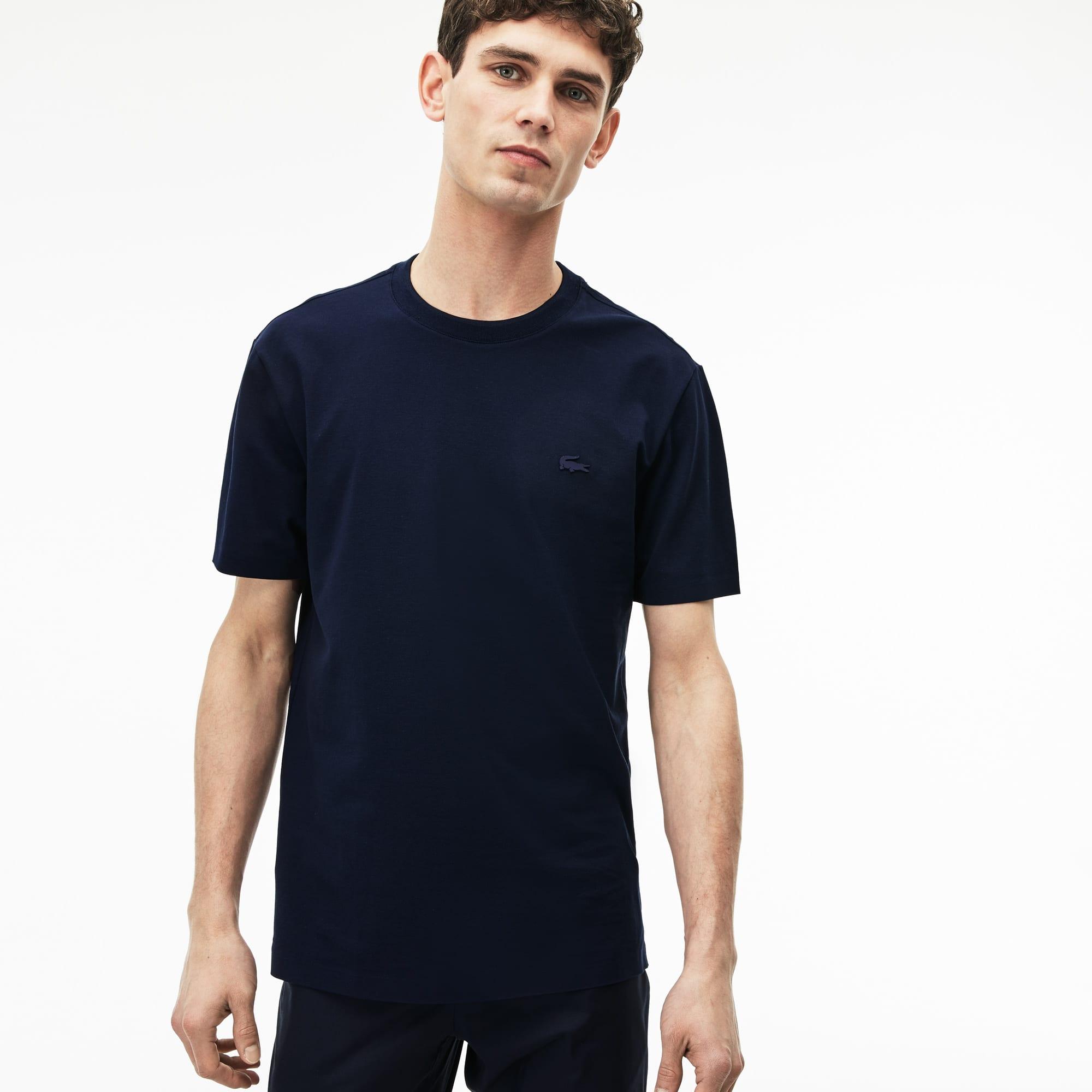 Herren-Rundhals-T-Shirt MOTION aus Pima-Baumwoll-Piqué