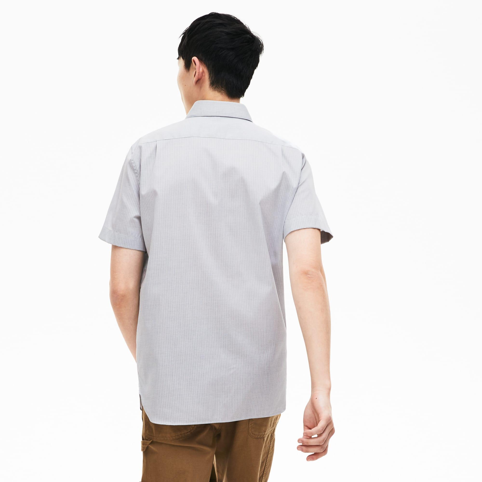 cheaper ac119 d0dea Regular Fit Herren-Hemd aus Baumwoll-Popeline mit kurzen Ärmeln