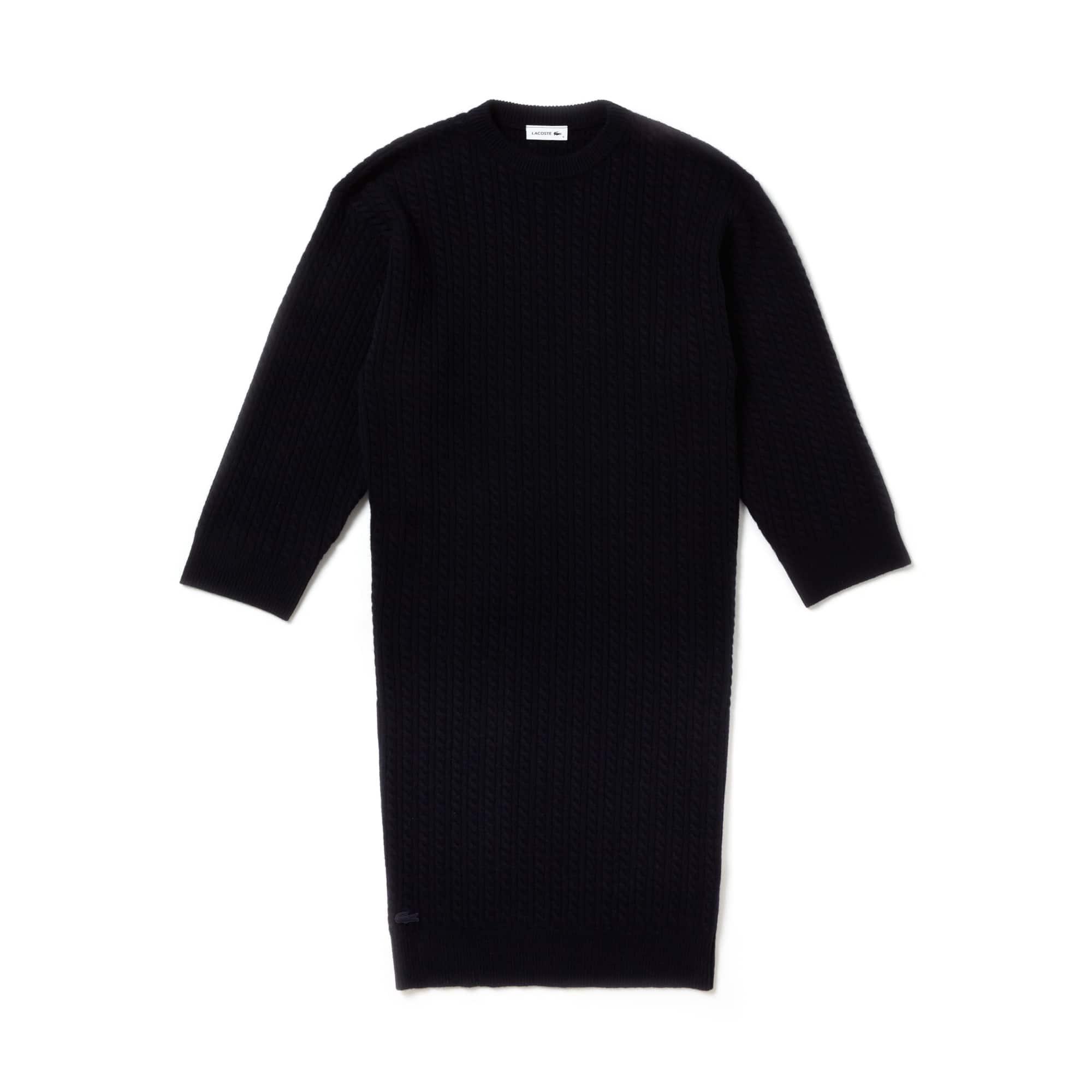Damen Oversize-Pulloverkleid aus Wolle und Cashmere FASHION SHOW