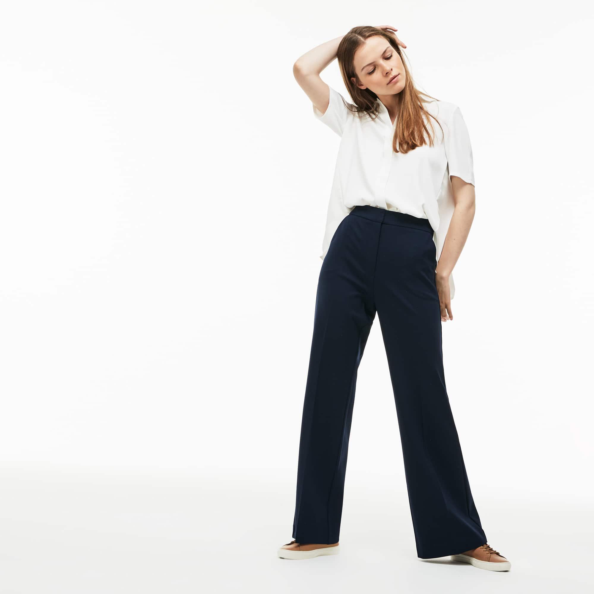 Damen-Hose aus fließender Milano-Strickware mit Stretch