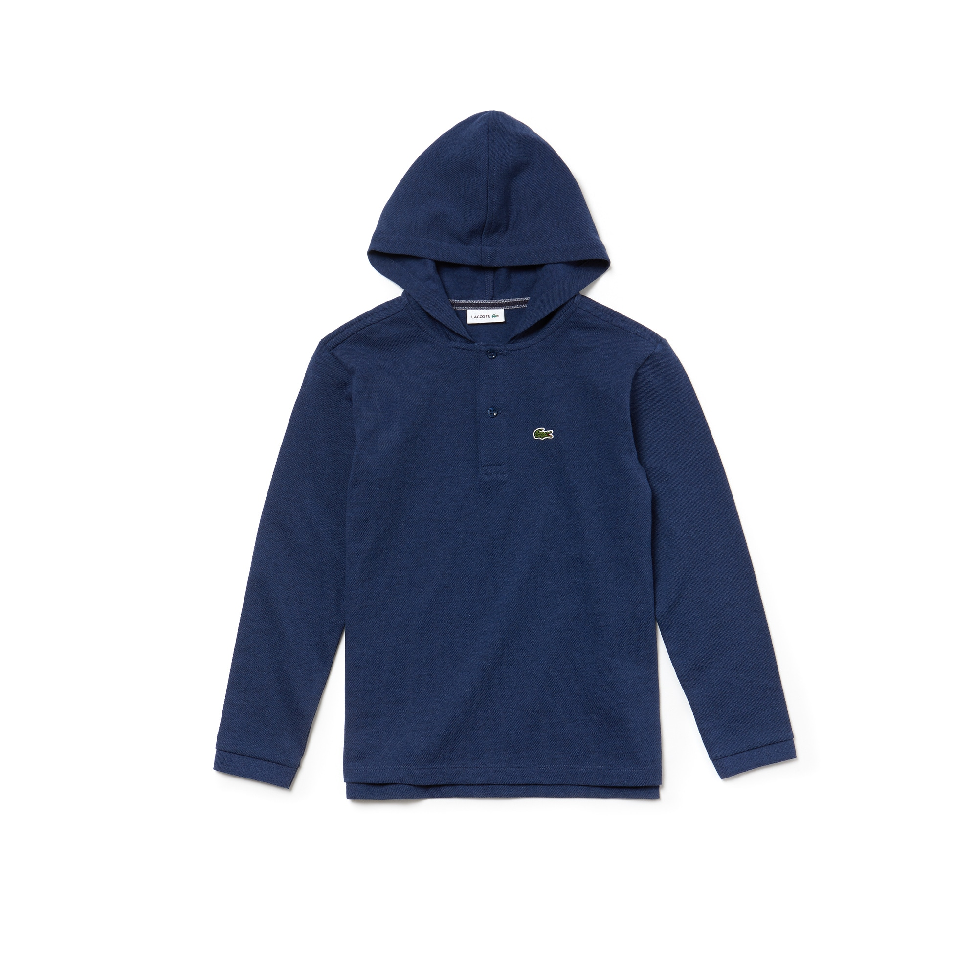 LACOSTE Jungen-Poloshirt mit Kapuze aus Piqué