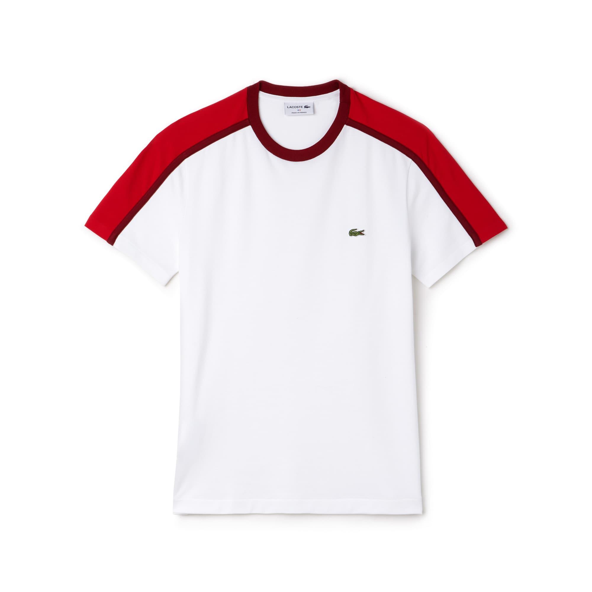 Herren Made in France Rundhals T-Shirt mit Colorblocks