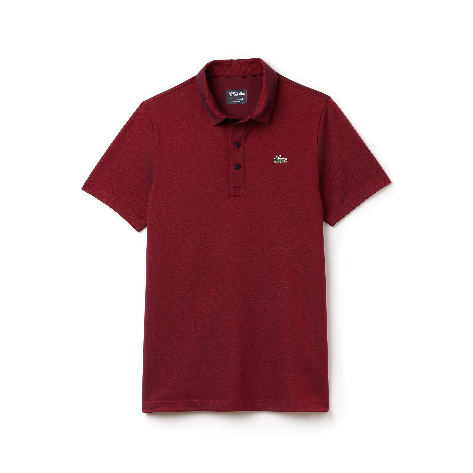 Herren LACOSTE SPORT zweifarbiges Golf-Poloshirt