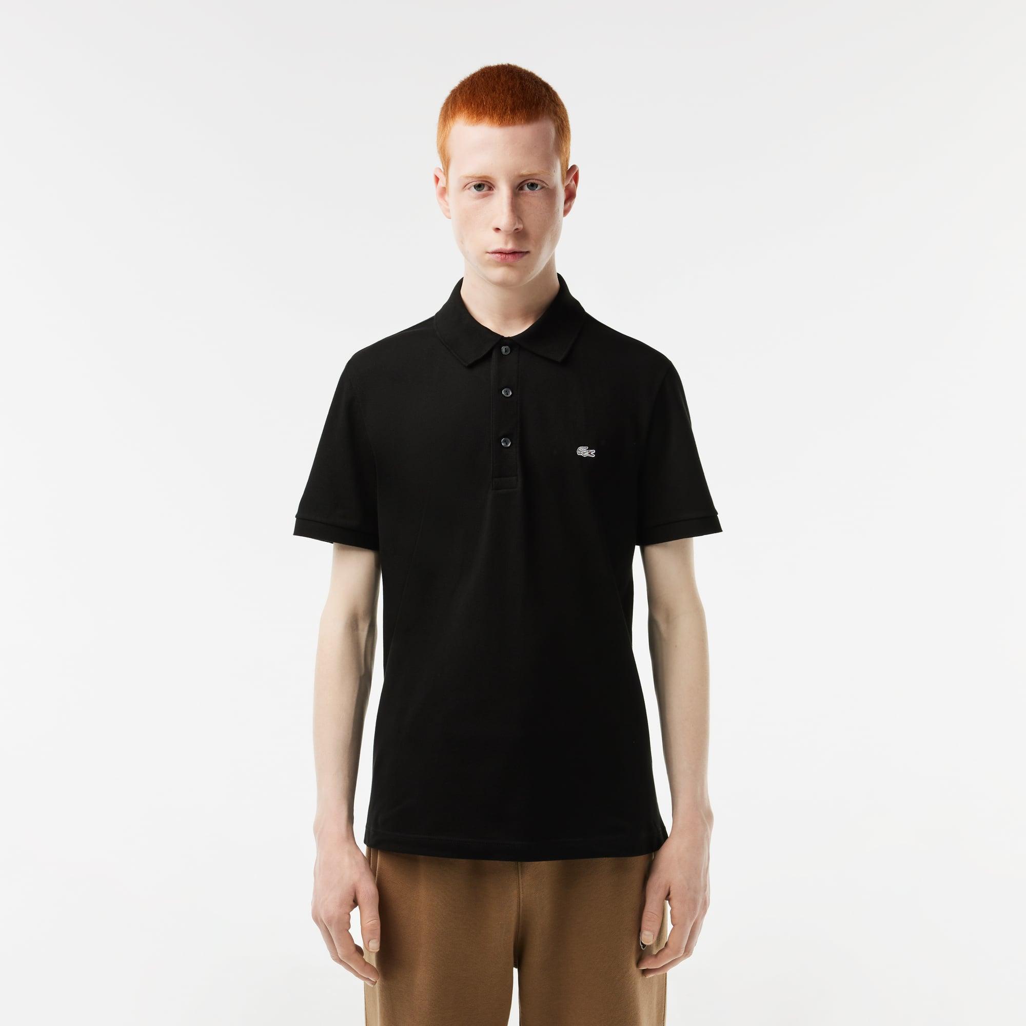 Slim Fit Lacoste-Polo aus dehnbarem Petit Piqué