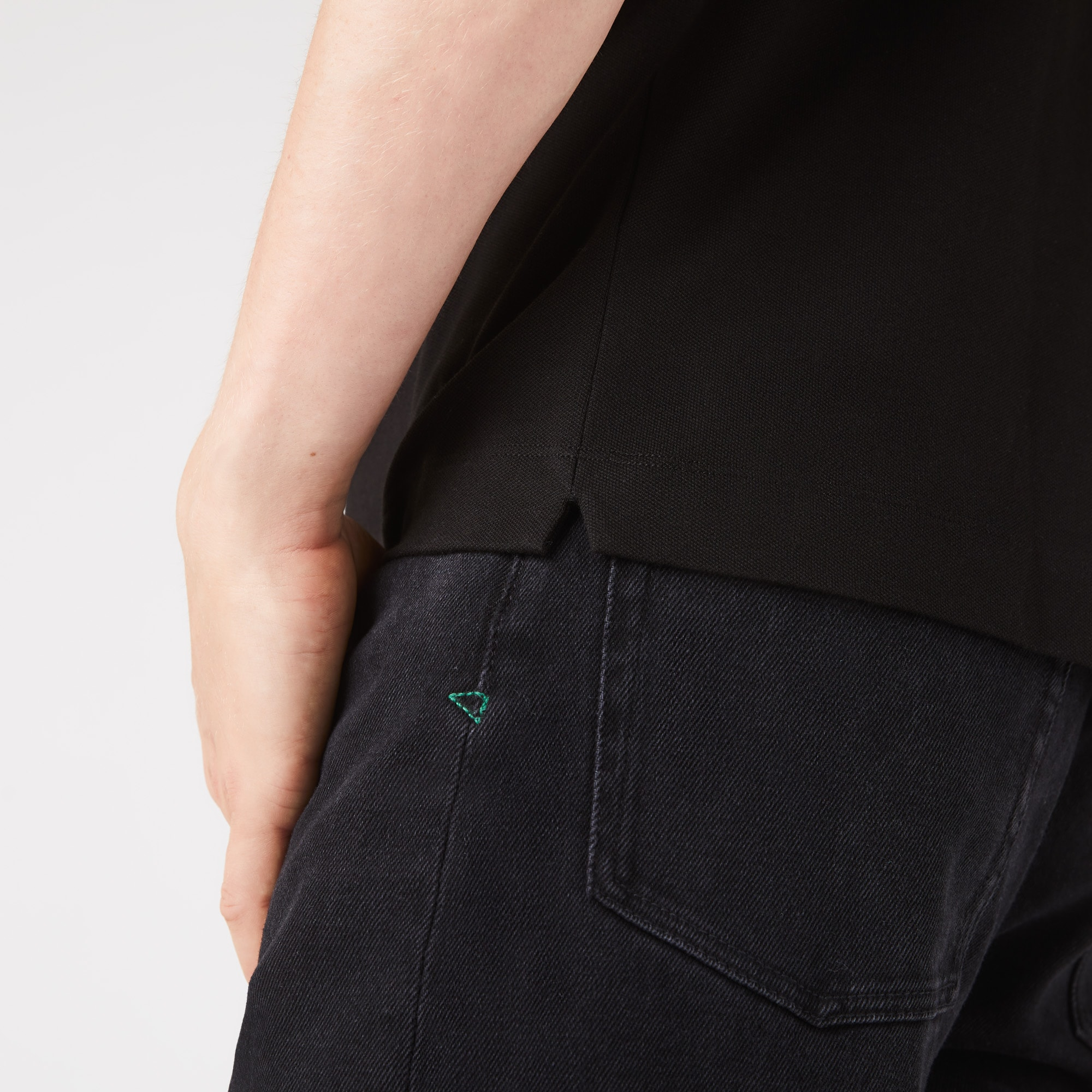 Regular Fit Herren-LACOSTE PARIS POLO aus Stretch-Piqué