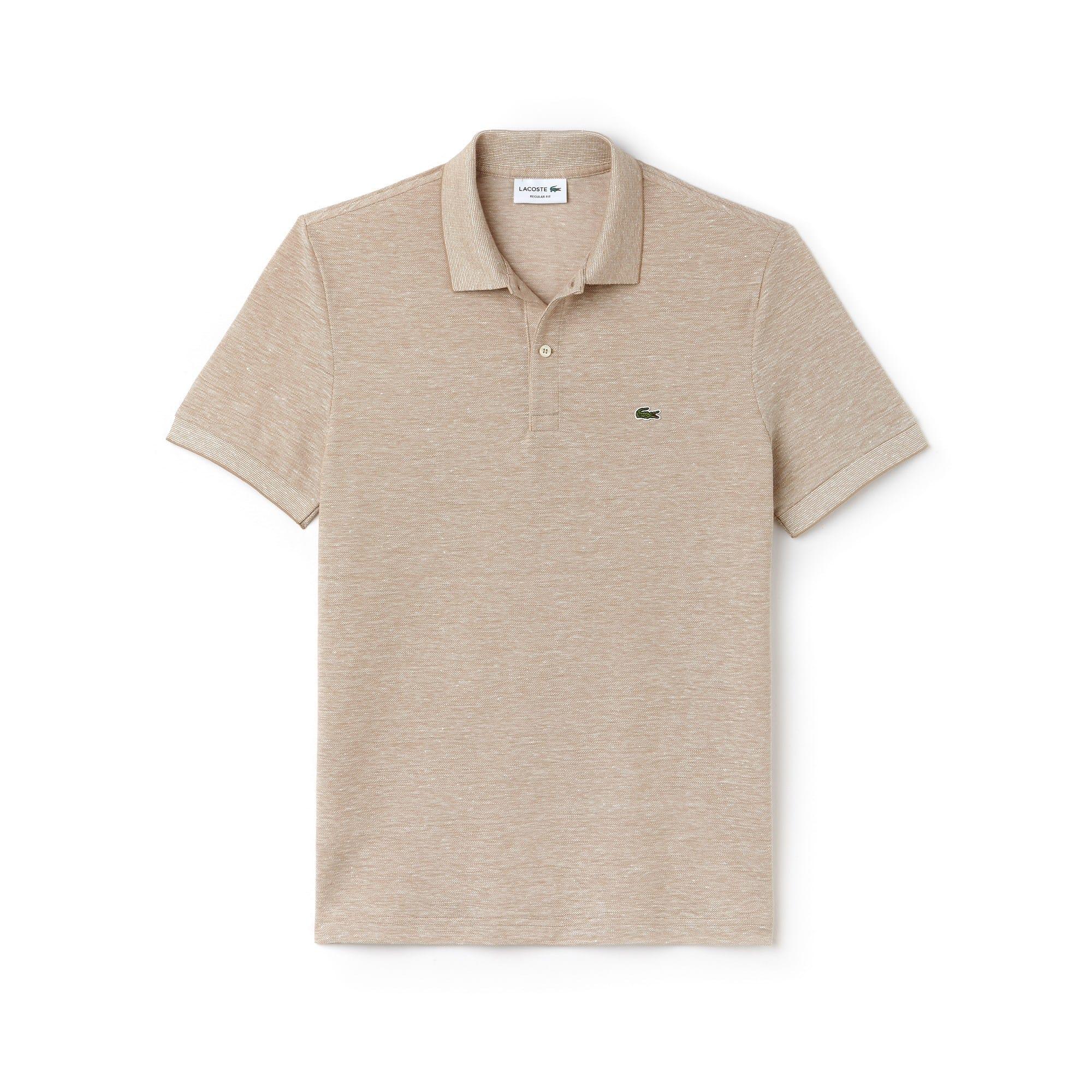 Regular Fit Herren-Poloshirt aus strukturiertem Kaviar-Piqué