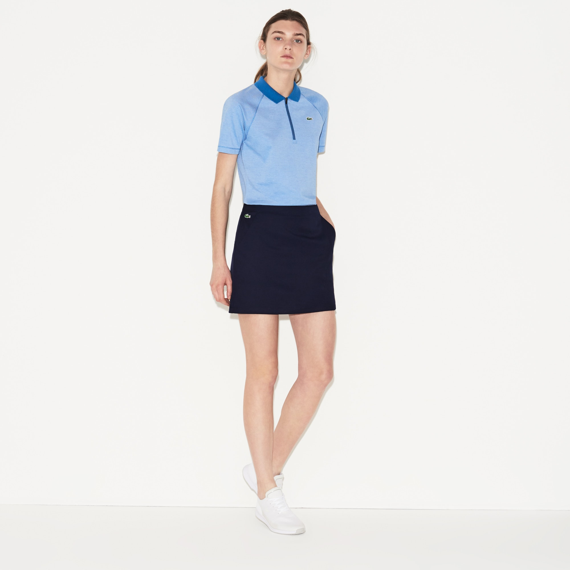 Damen LACOSTE SPORT Golf-Rock aus Funktionsgabardine