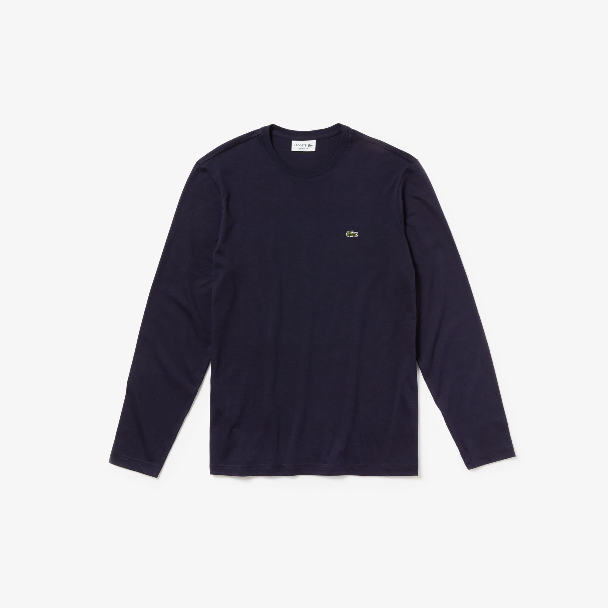 Herren-T-Shirt aus Baumwolljersey mit V-Ausschnitt