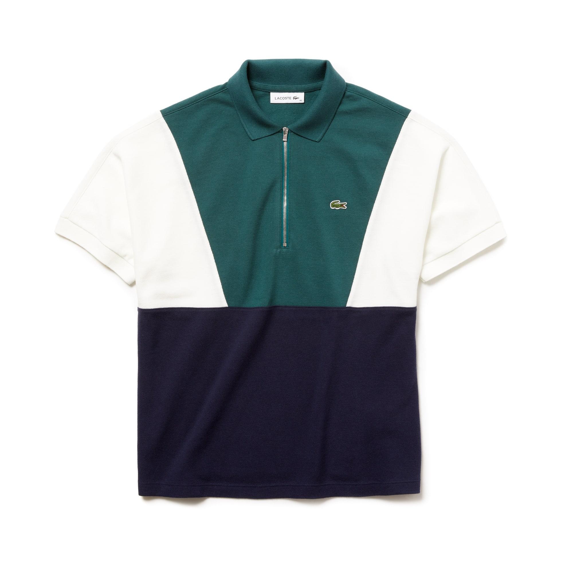 Damen LACOSTE Poloshirt aus Frottee-Piqué mit Colorblocks
