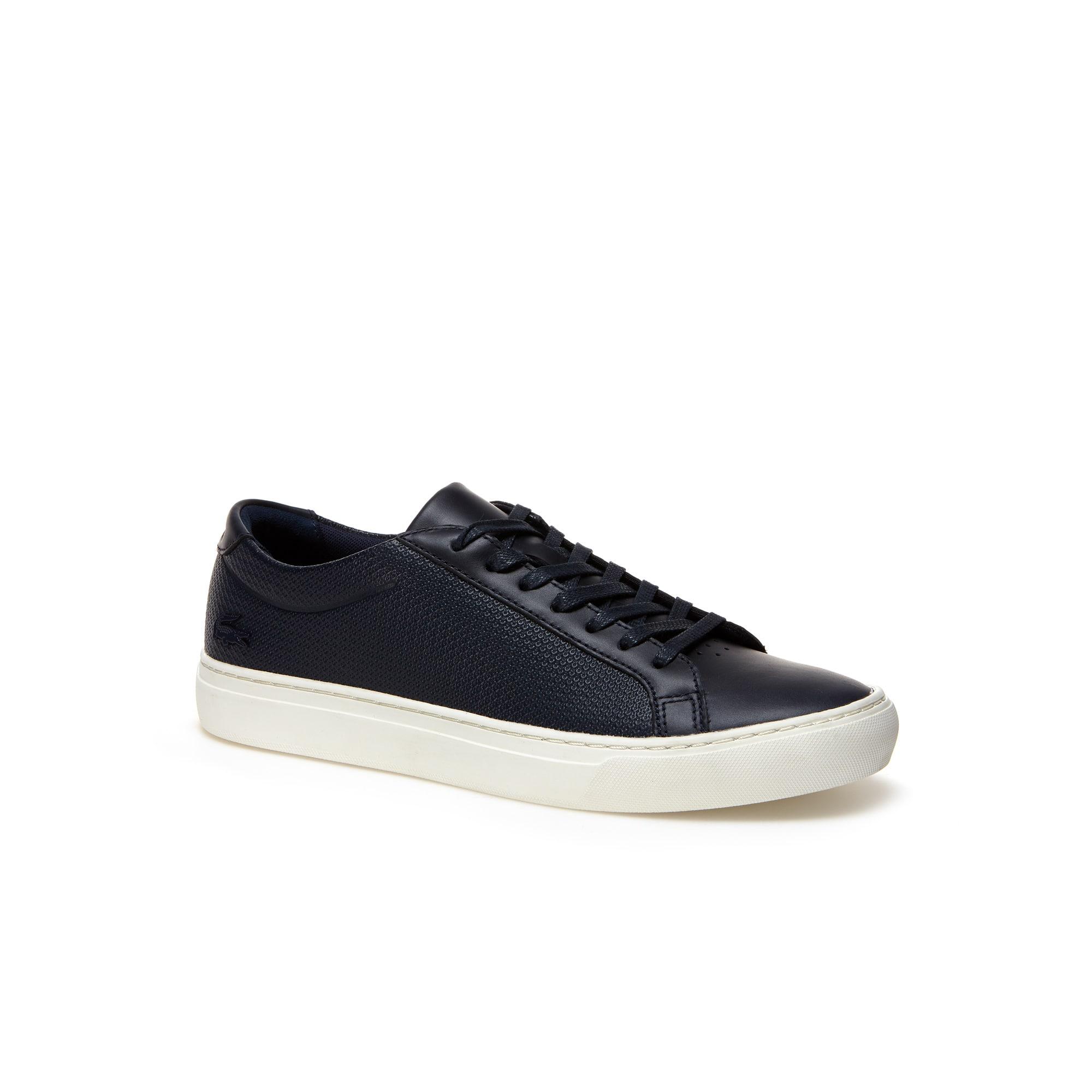Herren-Sneakers L.12.12 aus Leder und Gummi