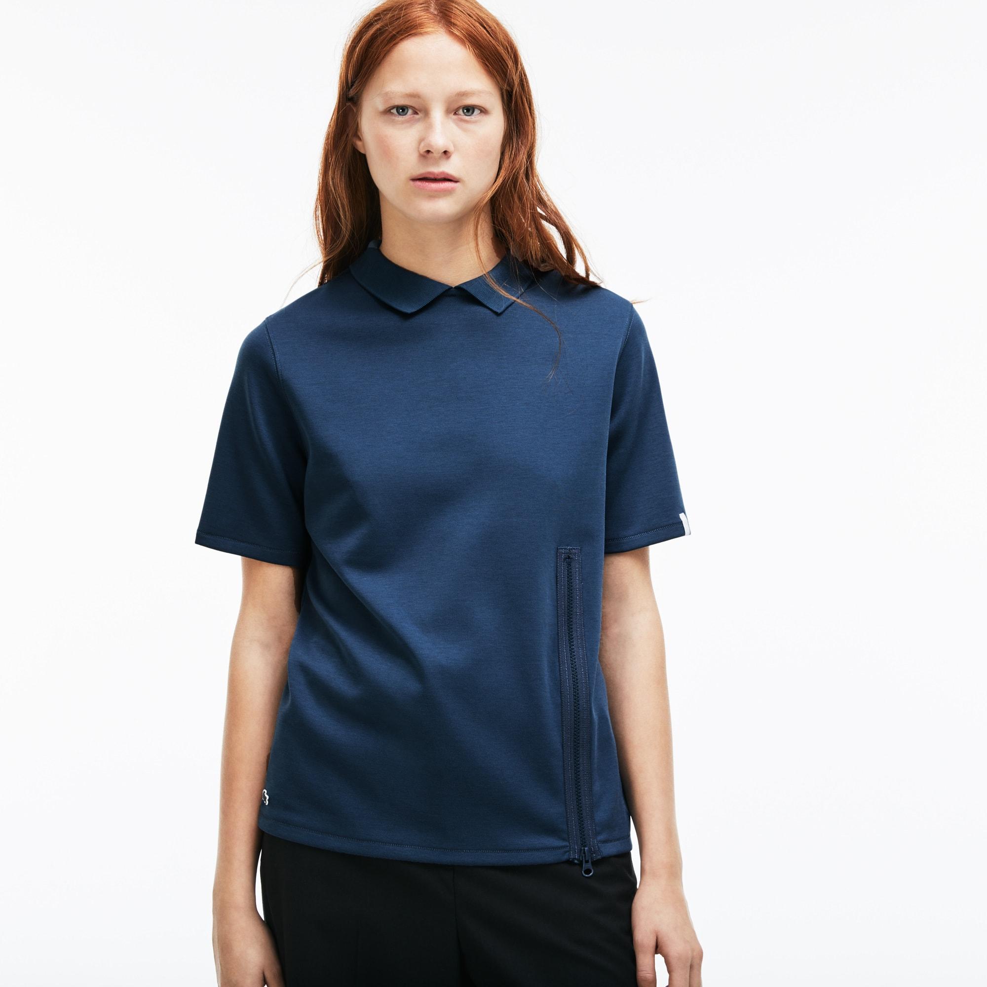 Damen-Poloshirt aus Jersey mit Reißverschluss LACOSTE L!VE