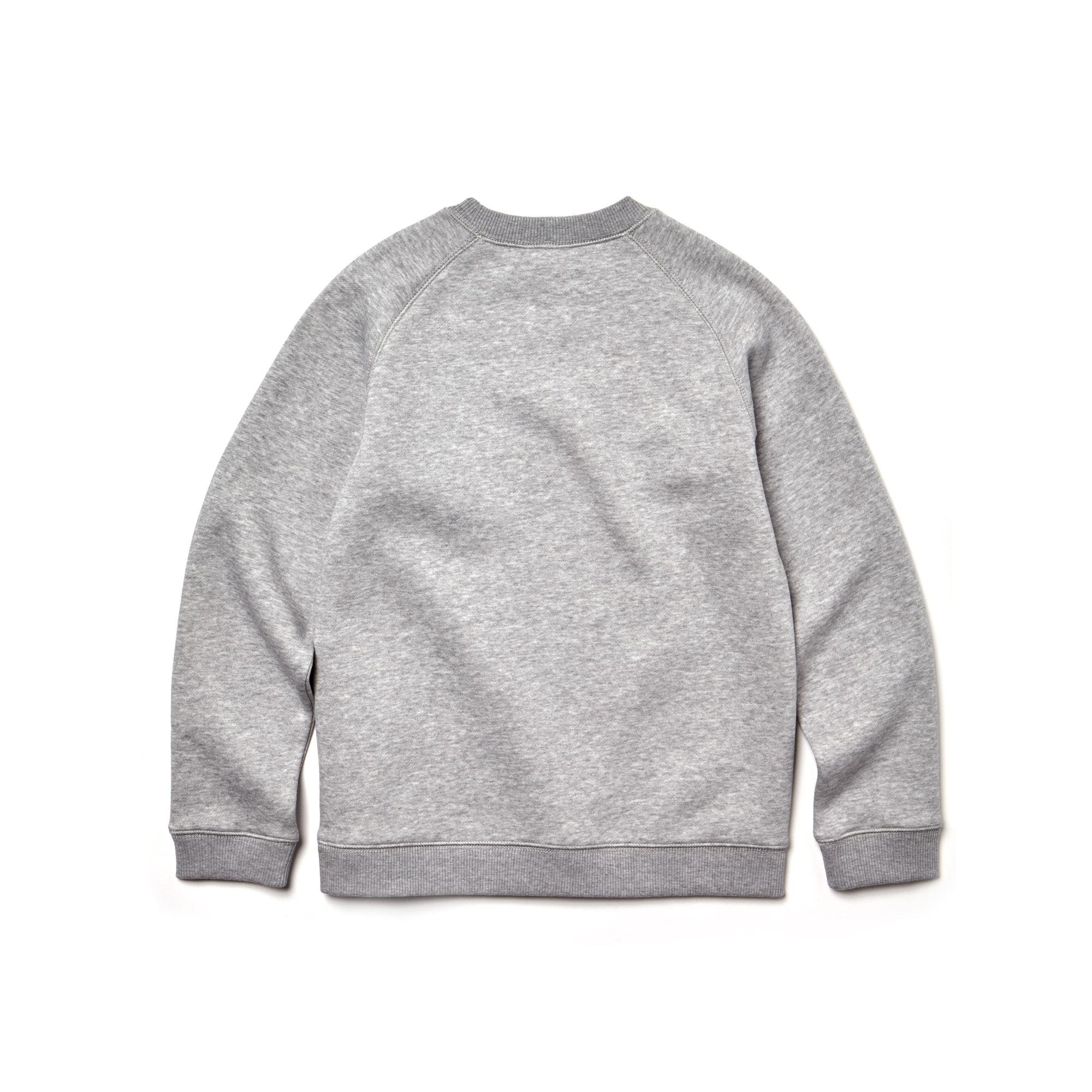 Jungen Rundhals-Sweatshirt aus Fleece mit Aufdruck   LACOSTE 183722b4e4fa