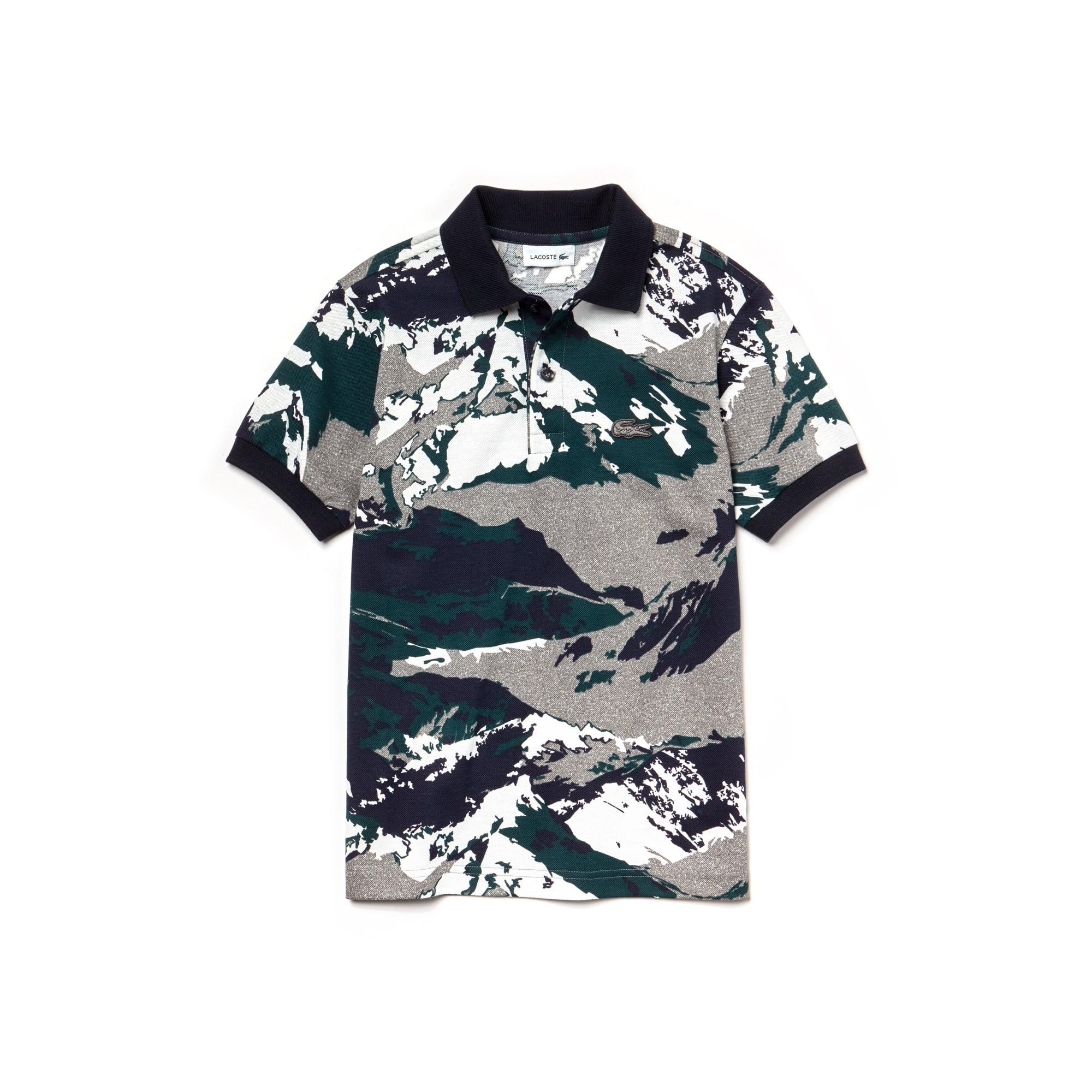 Jungen LACOSTE Mini-Piqué Poloshirt aus Baumwolle mit Aufdruck
