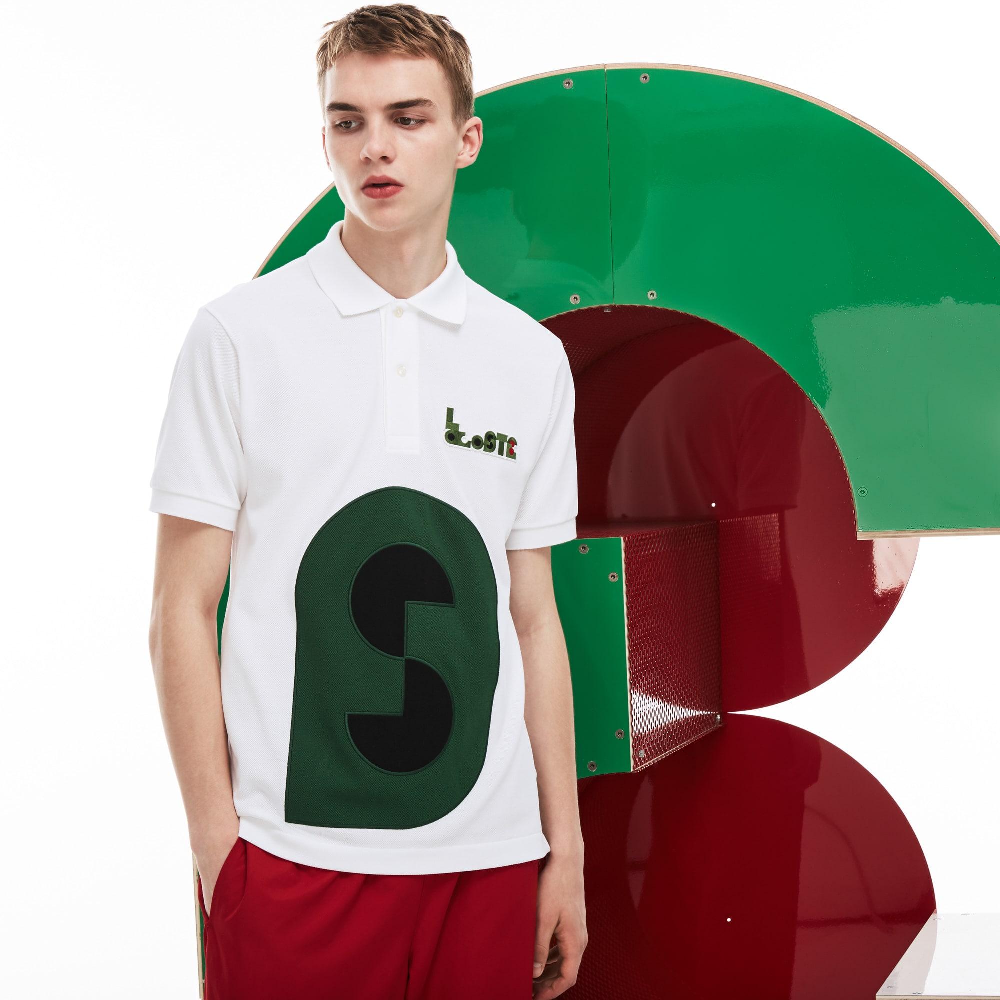 Herren-Poloshirt MM COLLAB L.12.12 aus dickem Baumwoll-Piqué