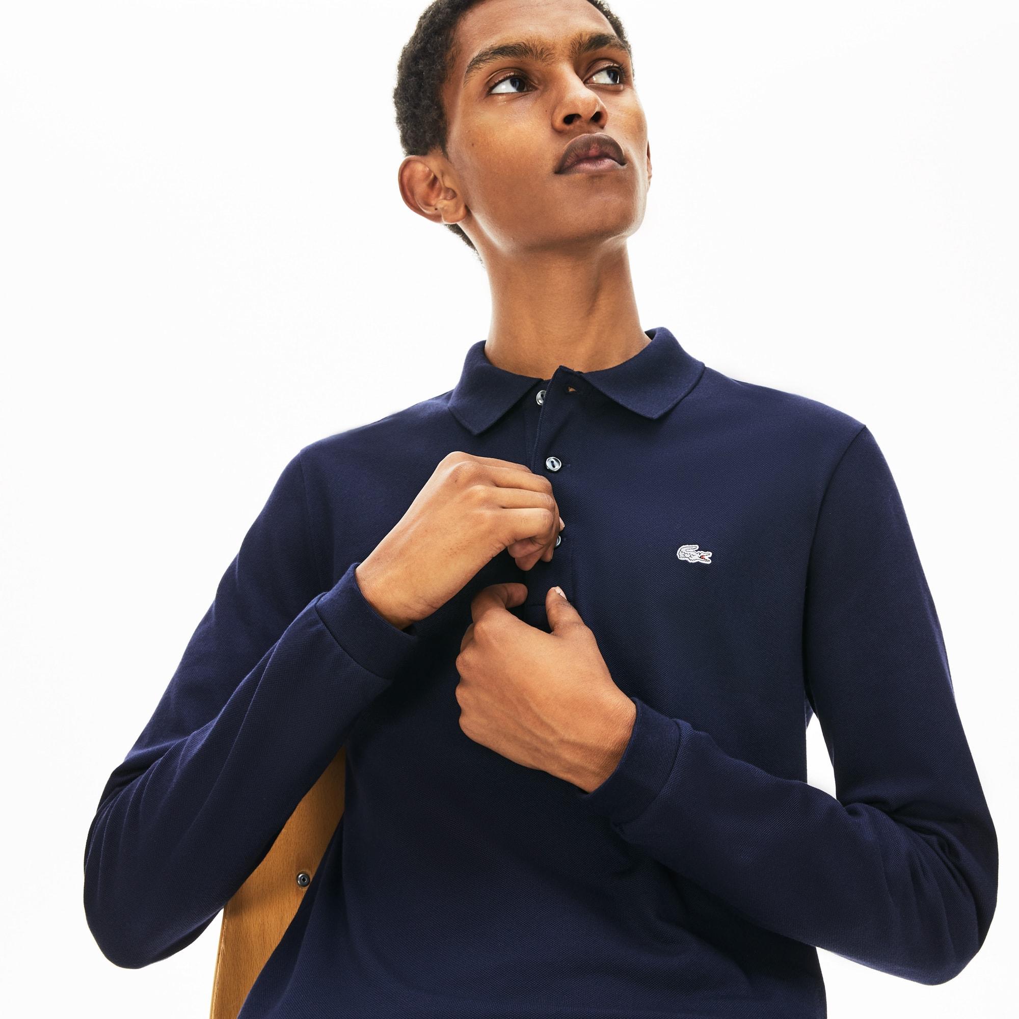 LACOSTE Slim Fit Herren-Poloshirt aus Mini-Piqué mit Stretch