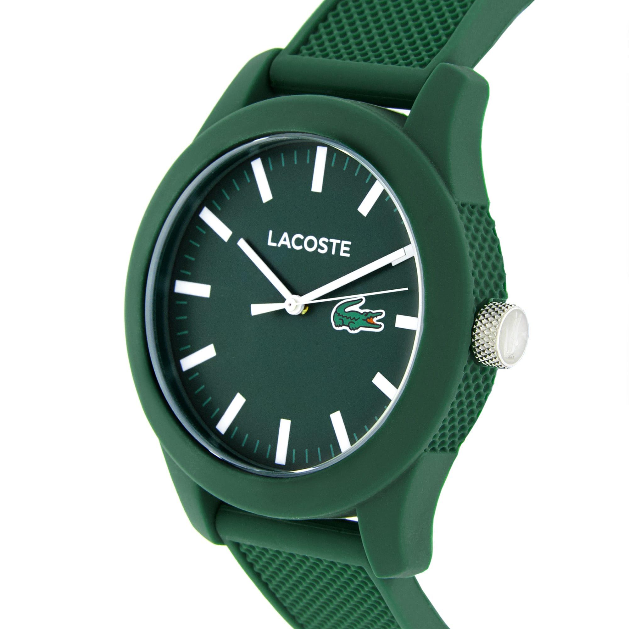 Herrenuhr LACOSTE12.12 mit grünen Silikonarmband